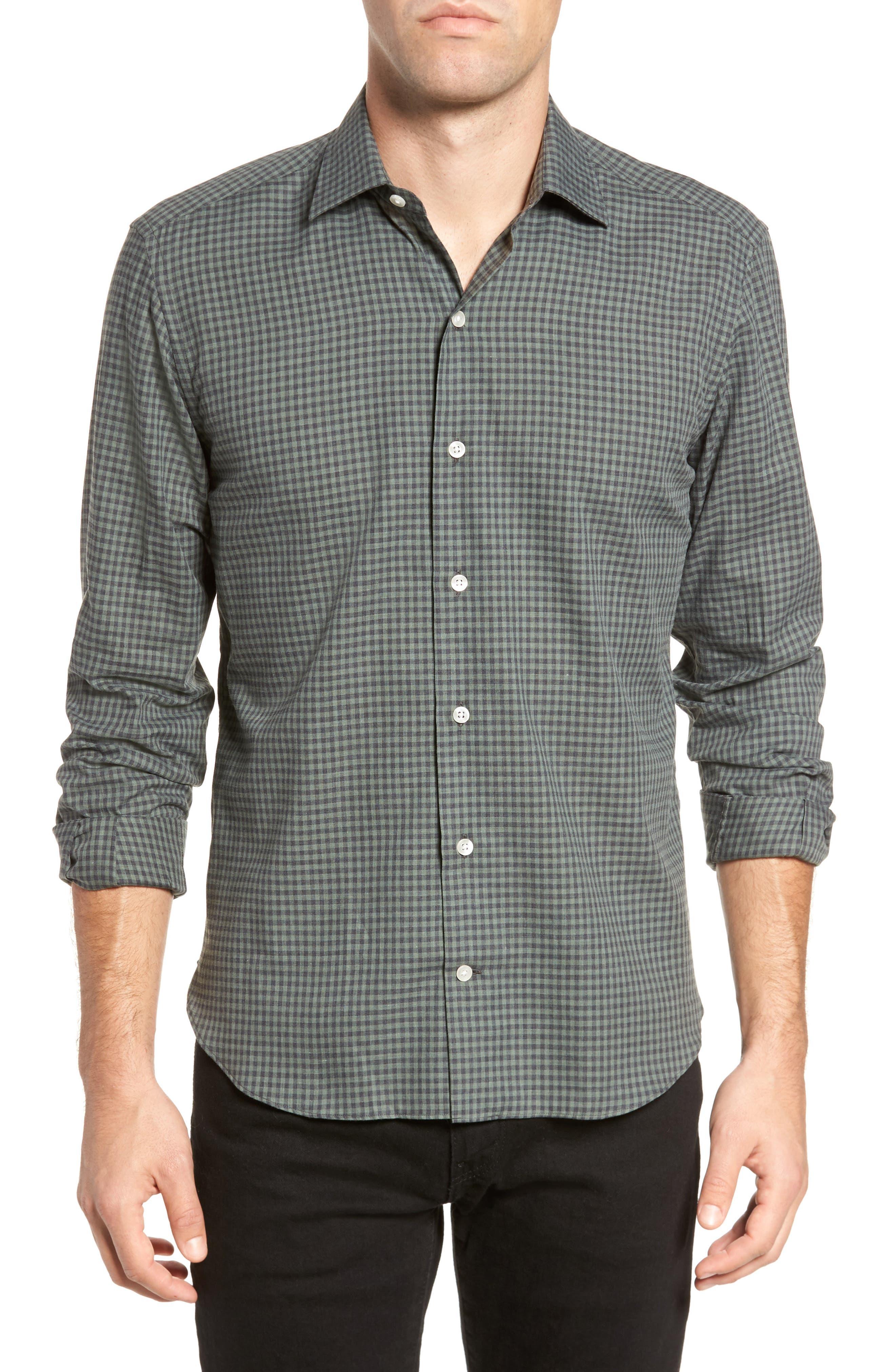 Gingham Sport Shirt,                             Main thumbnail 1, color,                             300