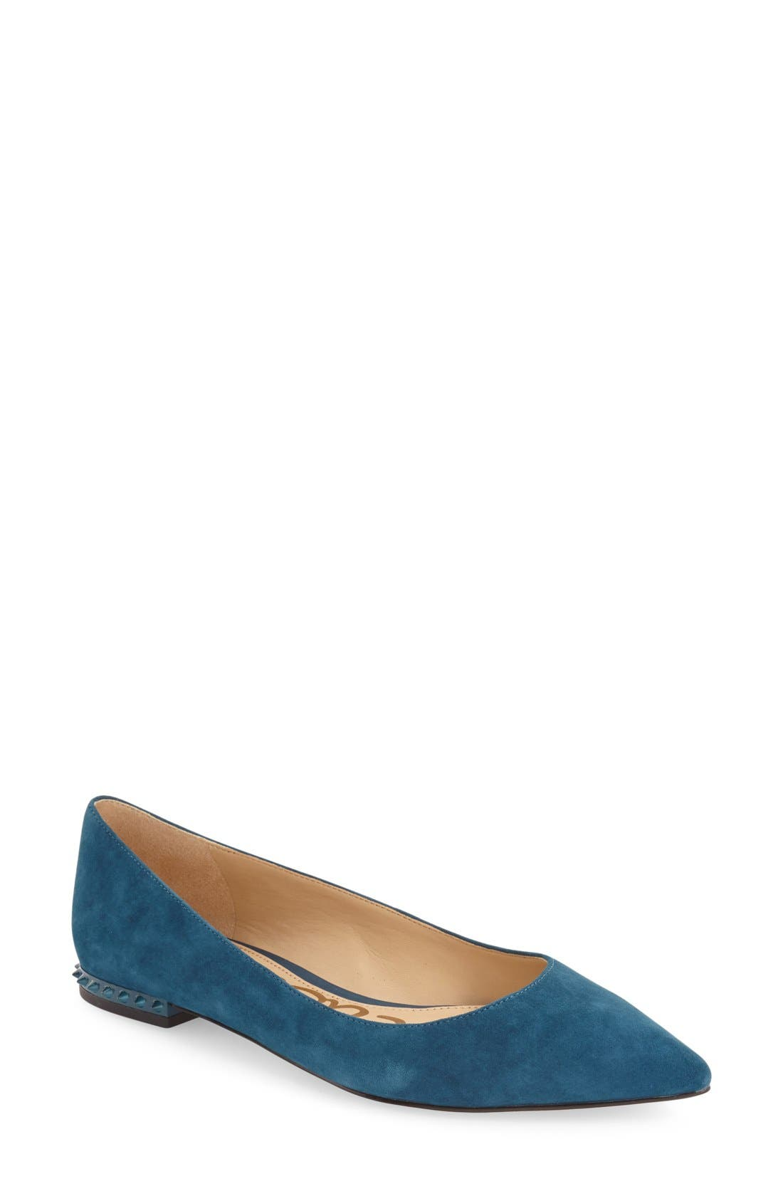 'Reyanne' Spike Rand Pointy Toe Flat,                             Main thumbnail 6, color,