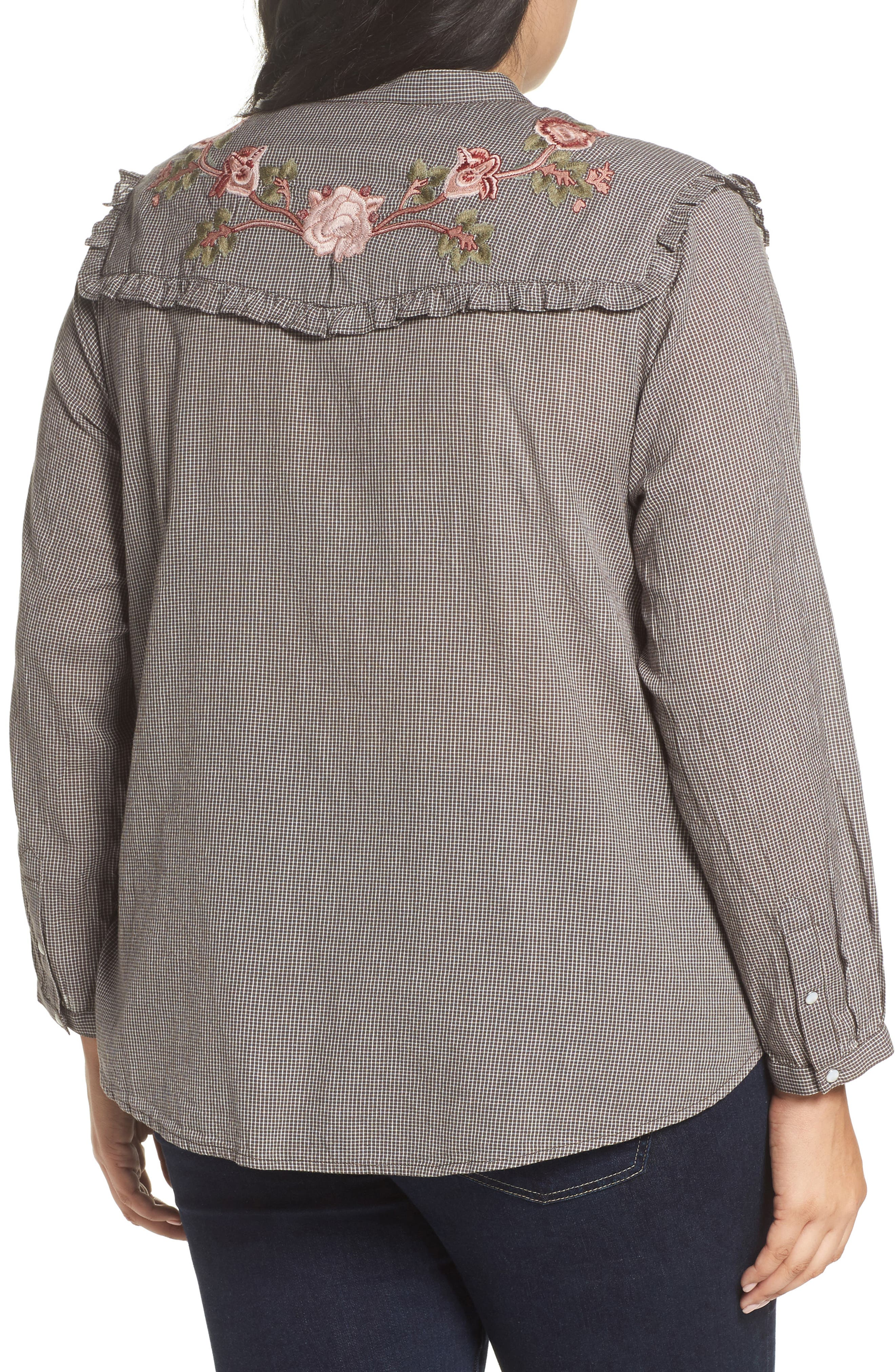 Embroidered Western Shirt,                             Alternate thumbnail 2, color,                             030