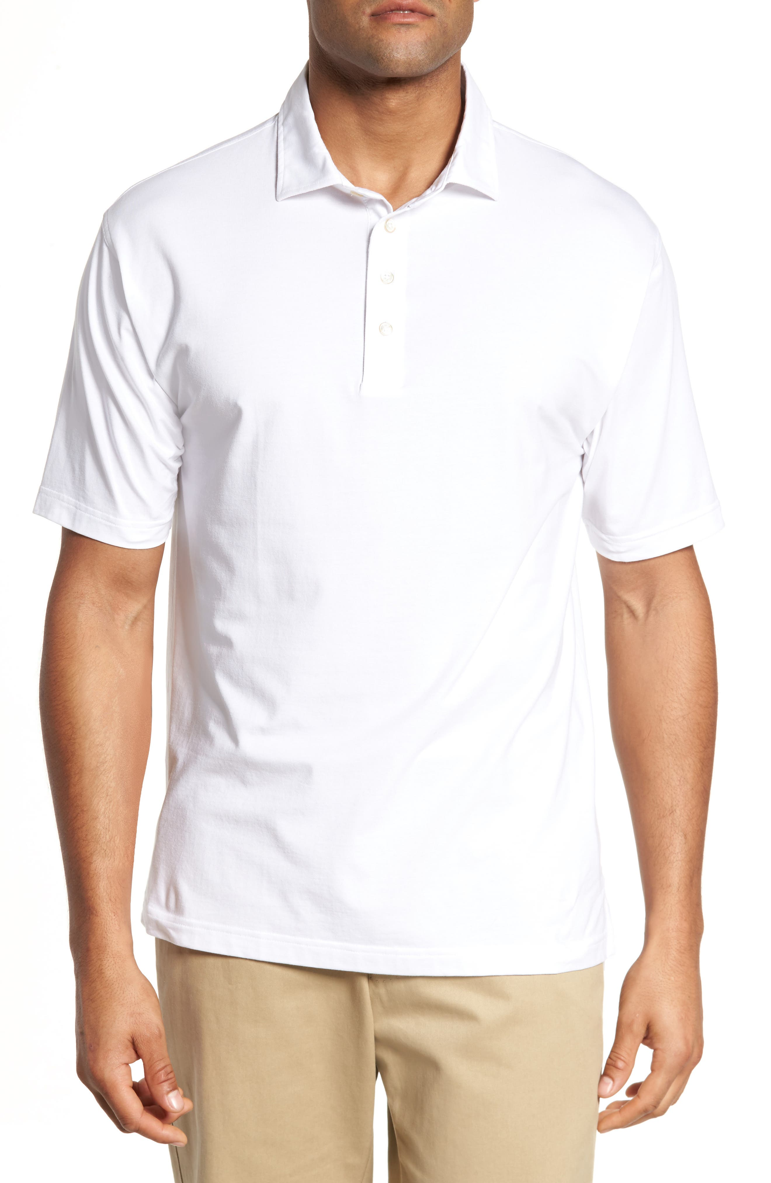 Liquid Cotton Stretch Jersey Polo,                             Main thumbnail 1, color,                             100