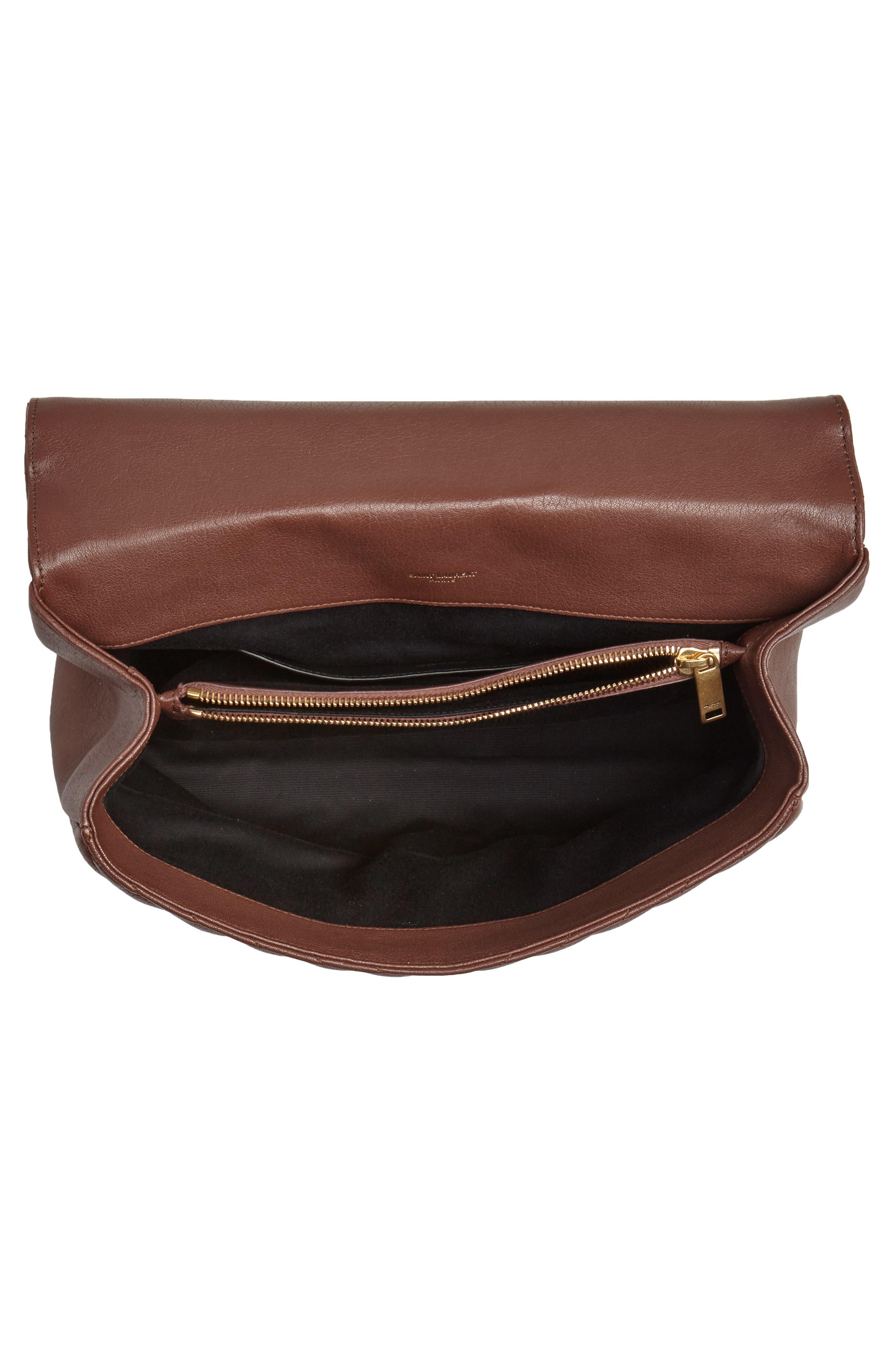 Medium College Shoulder Bag,                             Alternate thumbnail 4, color,                             BRANDY OLD