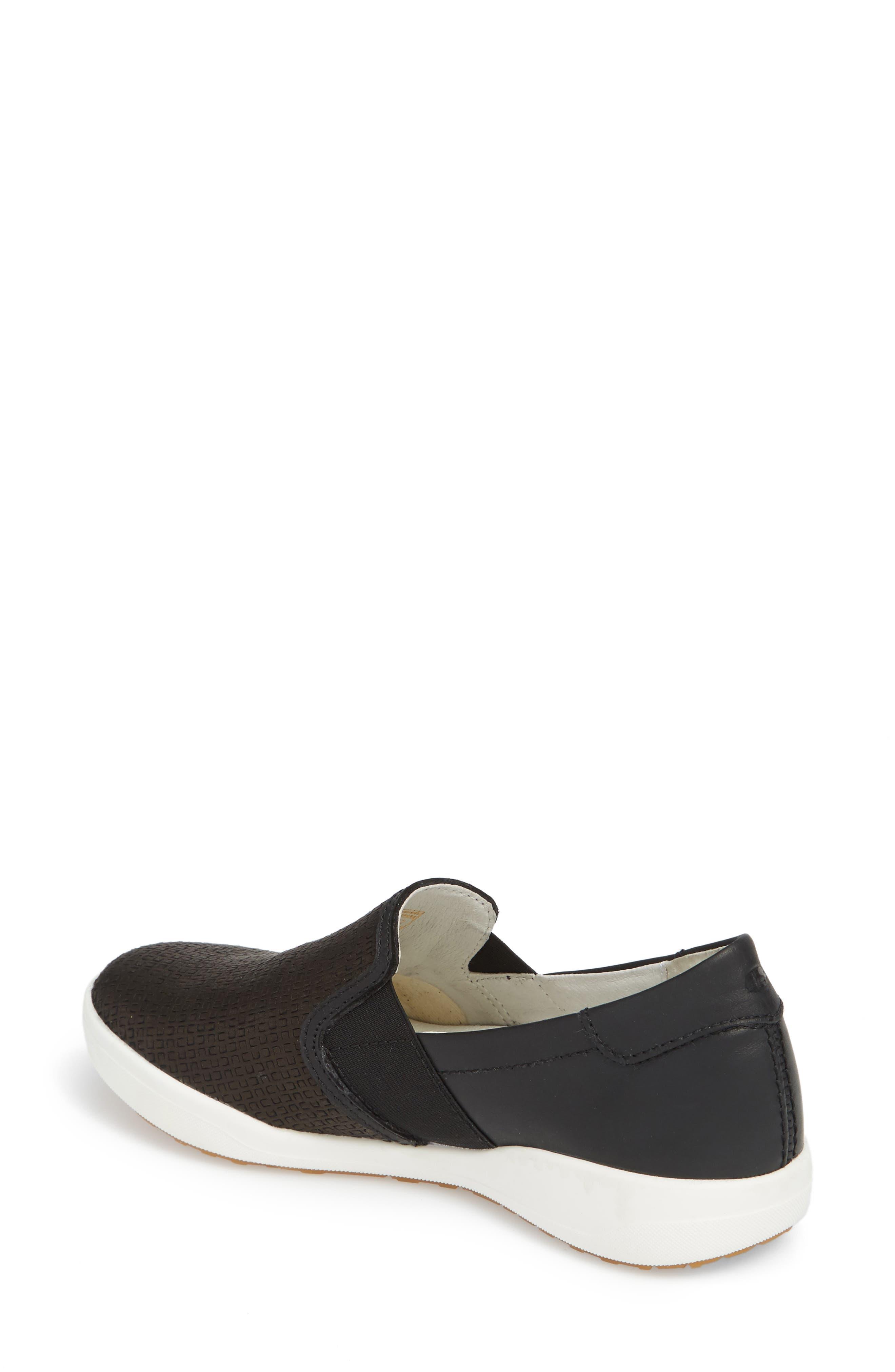 Sina 39 Sneaker,                             Alternate thumbnail 2, color,                             BLACK LEATHER