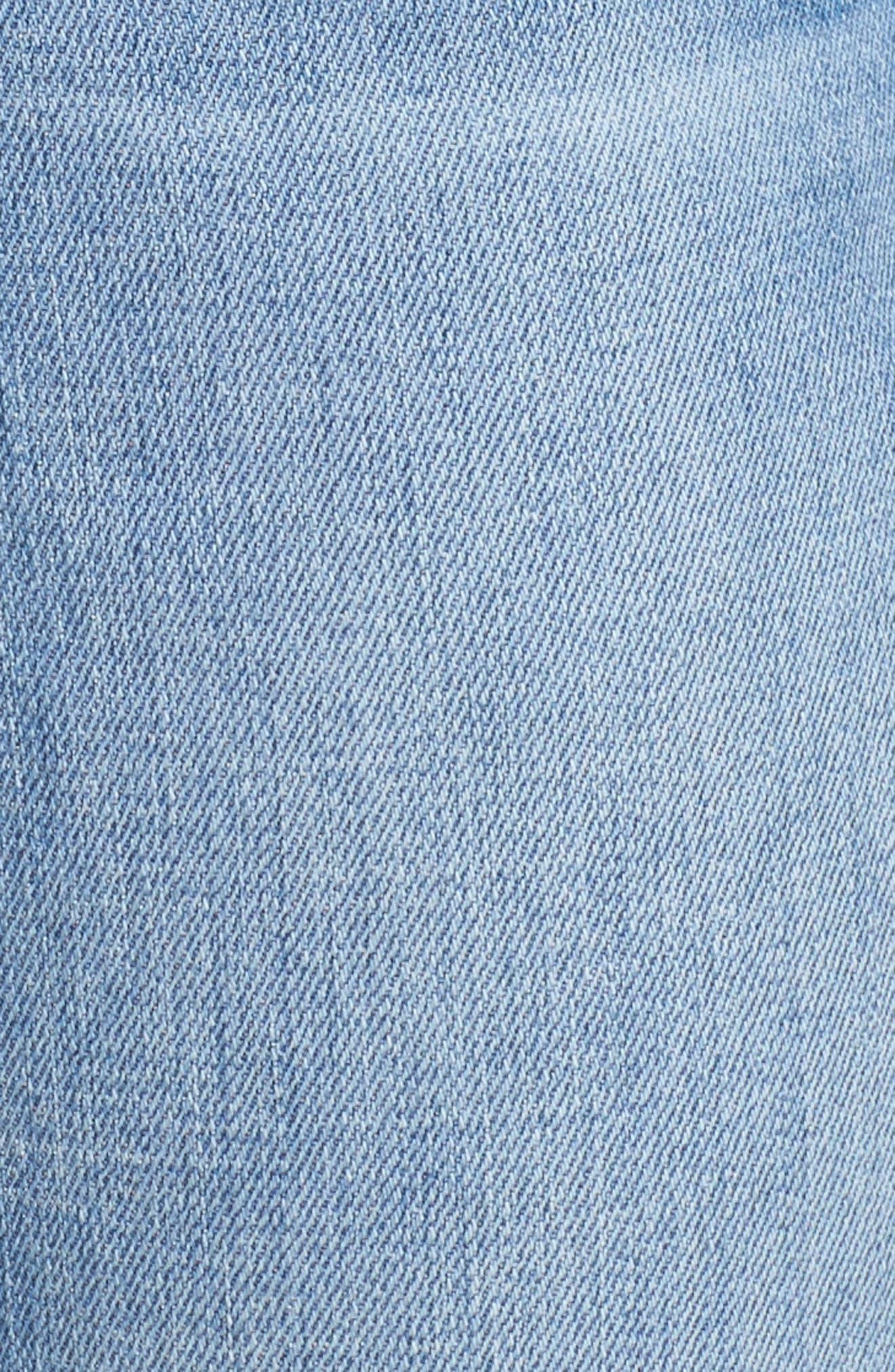 Edie High Waist Crop Release Hem Jeans,                             Alternate thumbnail 5, color,                             400