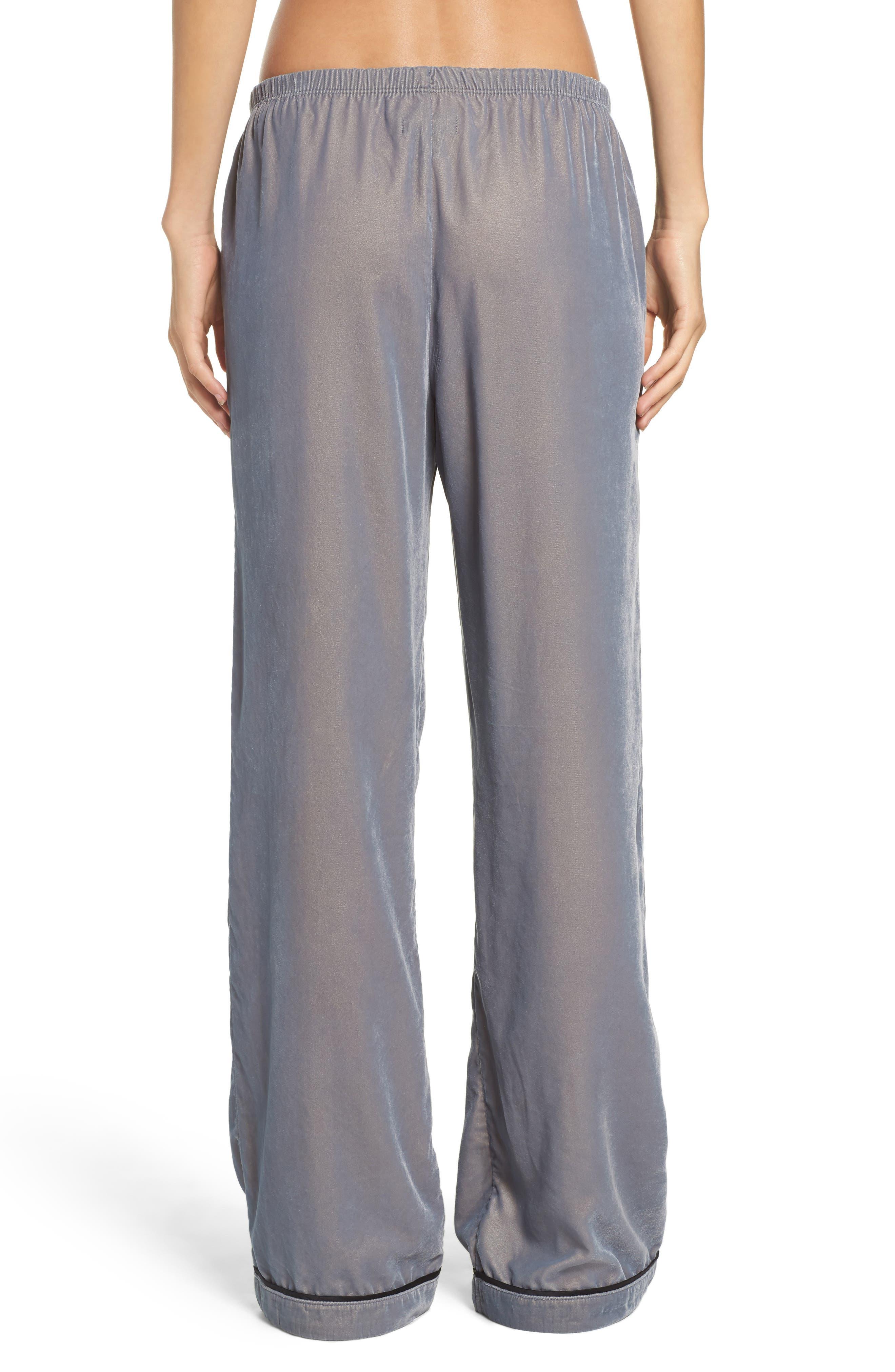Velvet Pajama Pants,                             Alternate thumbnail 5, color,