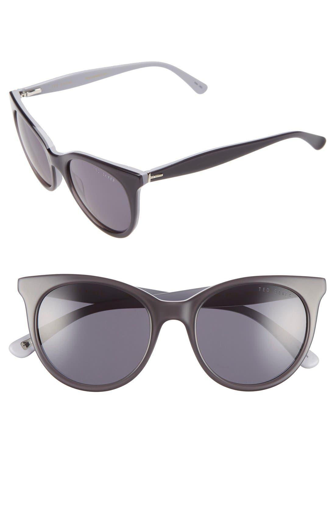 51mm Cat Eye Sunglasses,                             Main thumbnail 1, color,                             020