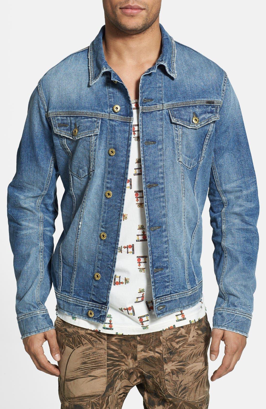 'Jinka' Denim Jacket, Main, color, 400
