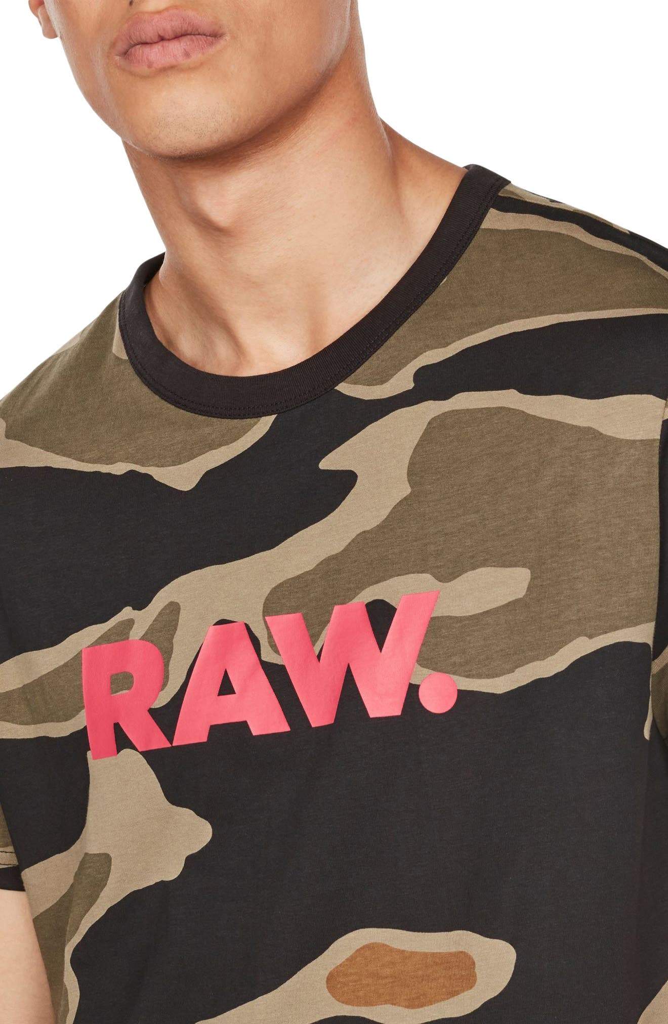 Tiger Camo Graphic T-Shirt,                             Alternate thumbnail 4, color,                             300