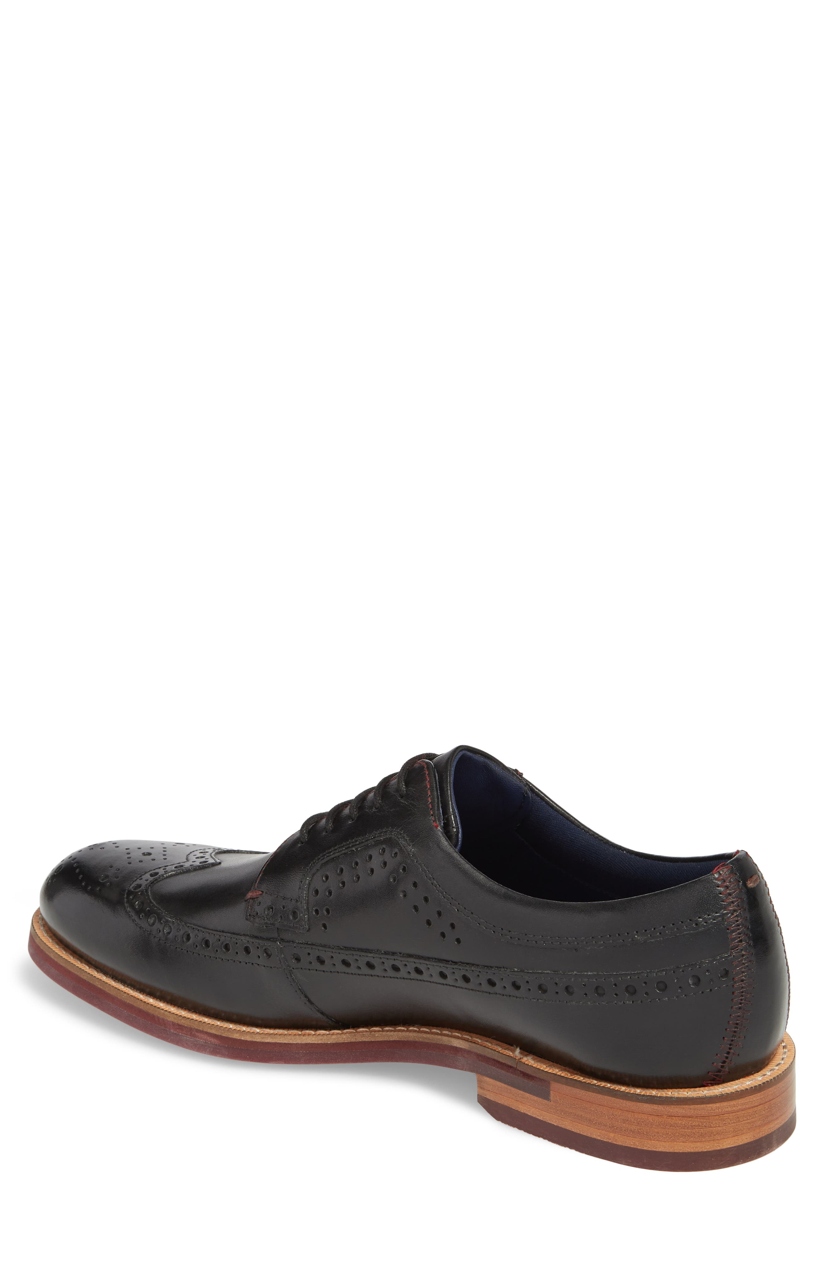 Mition Wingtip Derby,                             Alternate thumbnail 2, color,                             BLACK LEATHER
