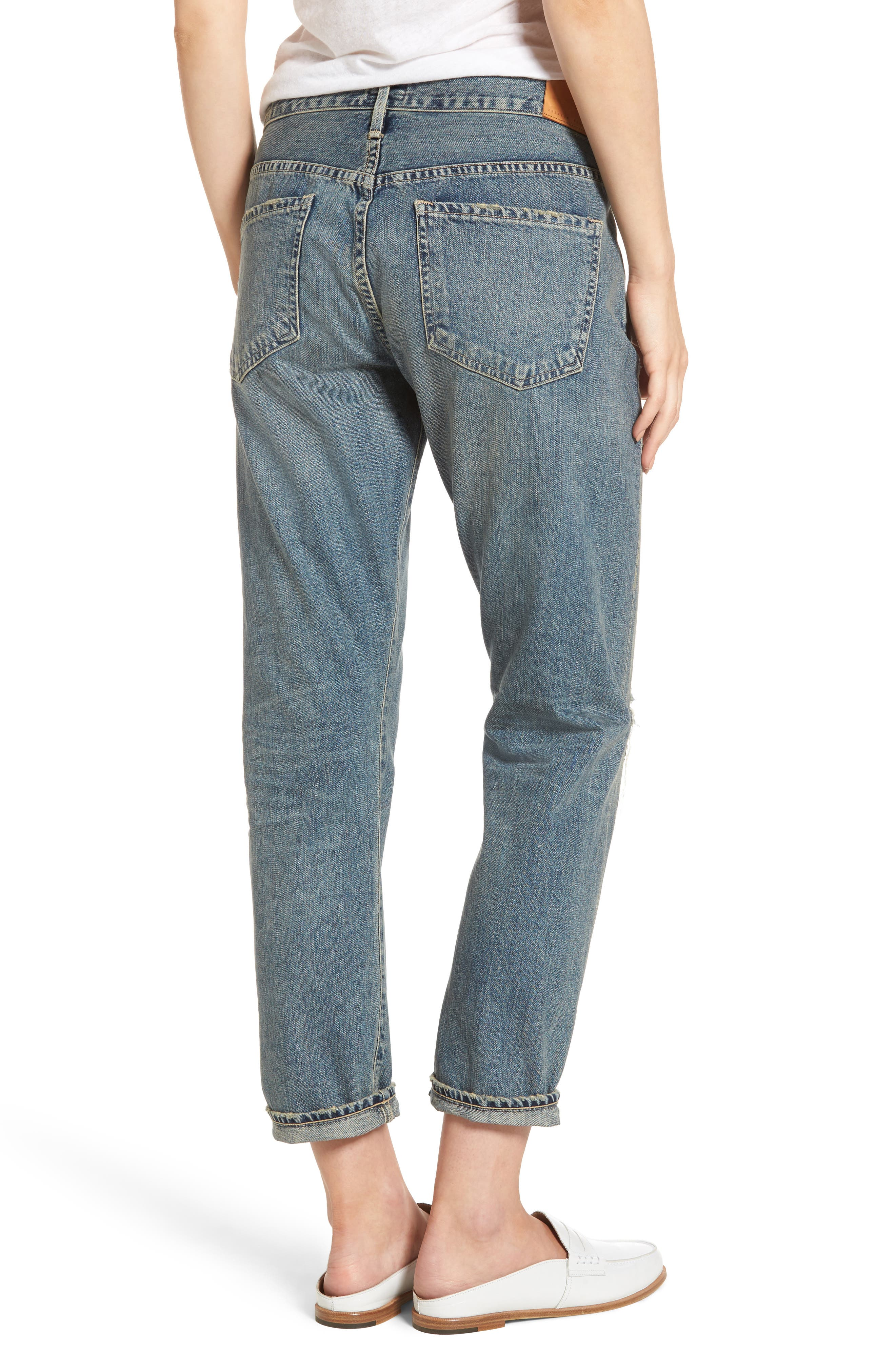 Emerson Ripped Slim Boyfriend Jeans,                             Alternate thumbnail 2, color,                             470