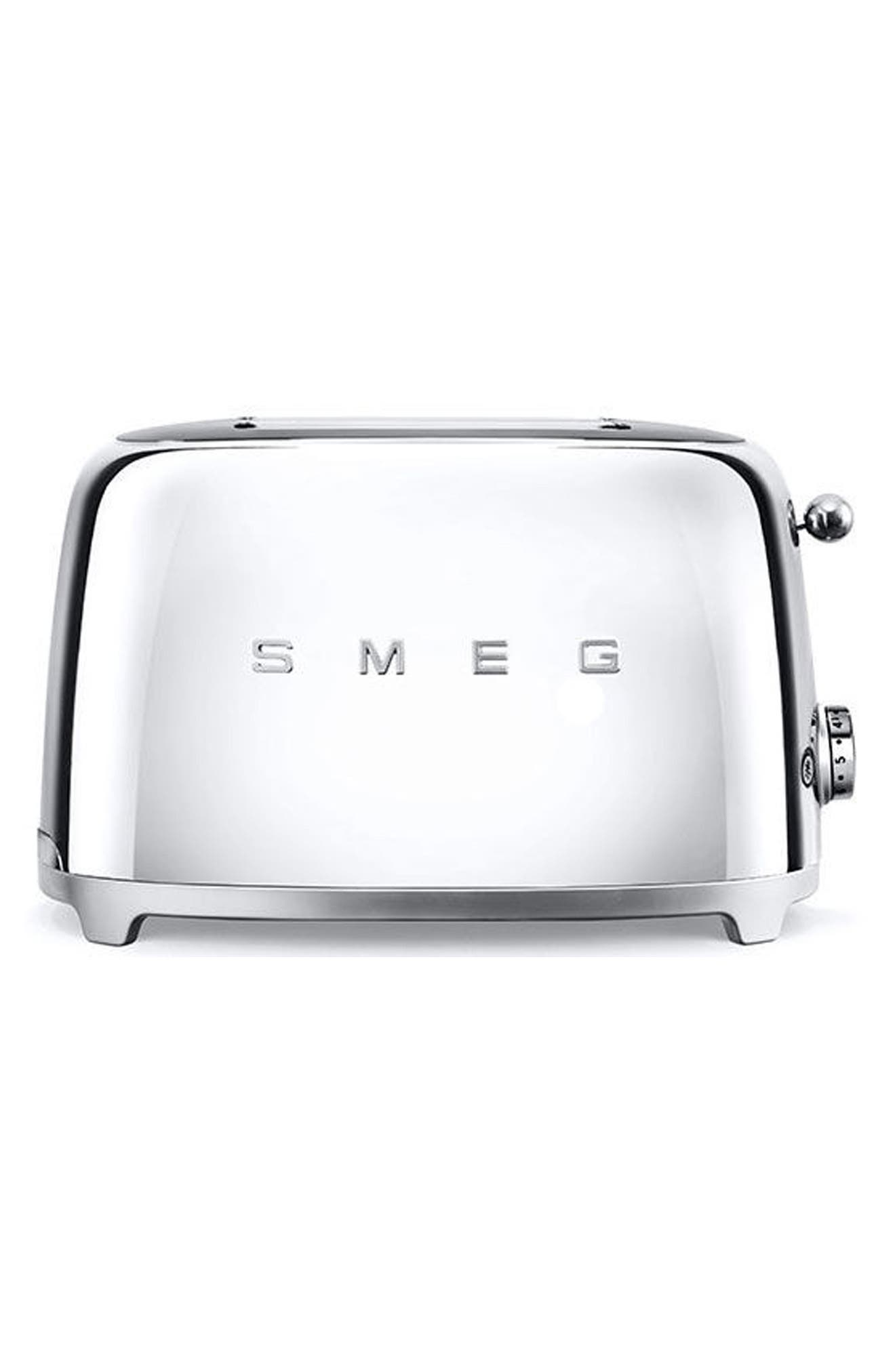 50s Retro Style Two-Slice Toaster,                         Main,                         color, POLISHED STAINLESS STEEL
