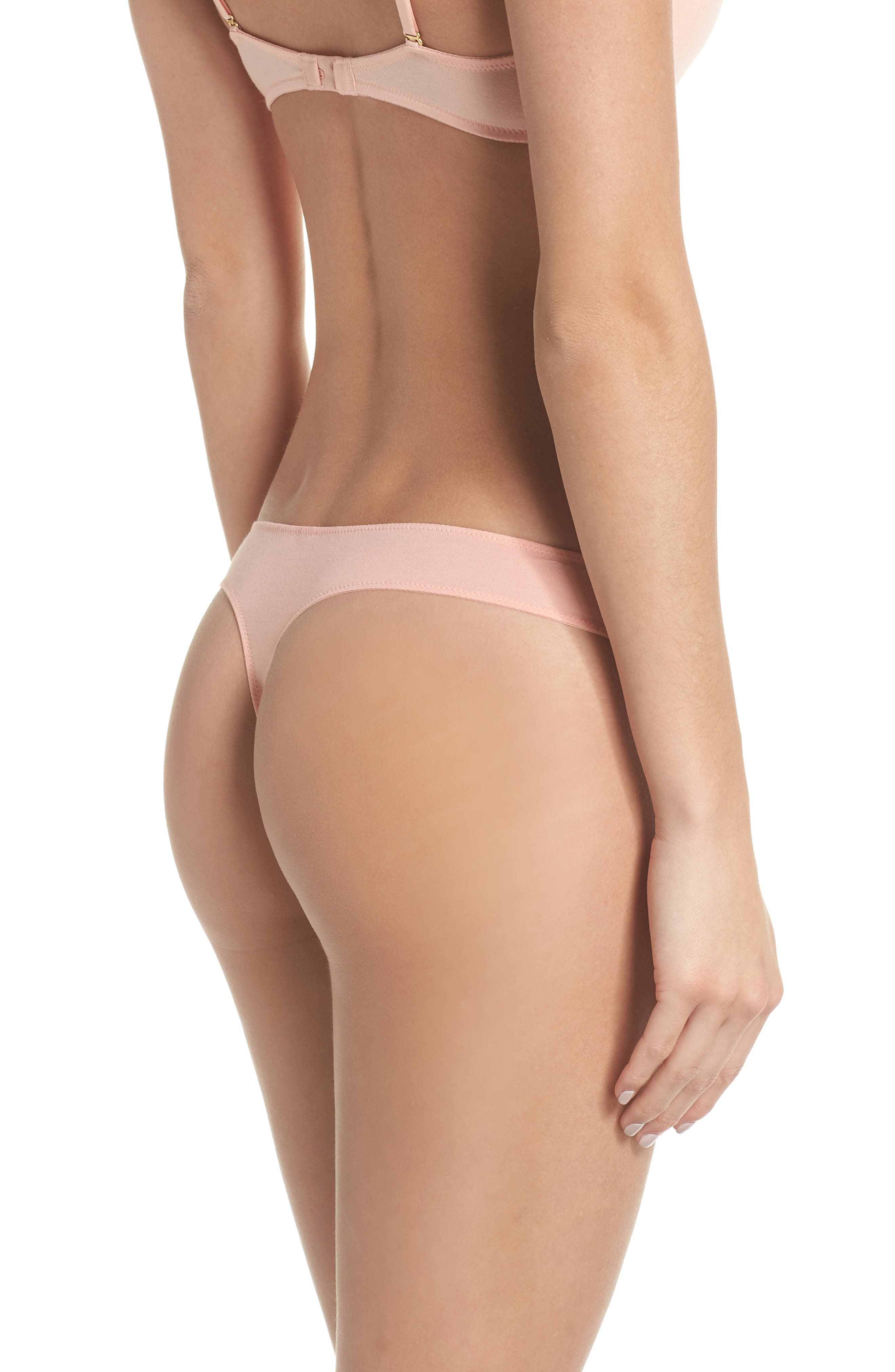 Jersey Thong,                             Alternate thumbnail 2, color,                             BLANCHED CORAL