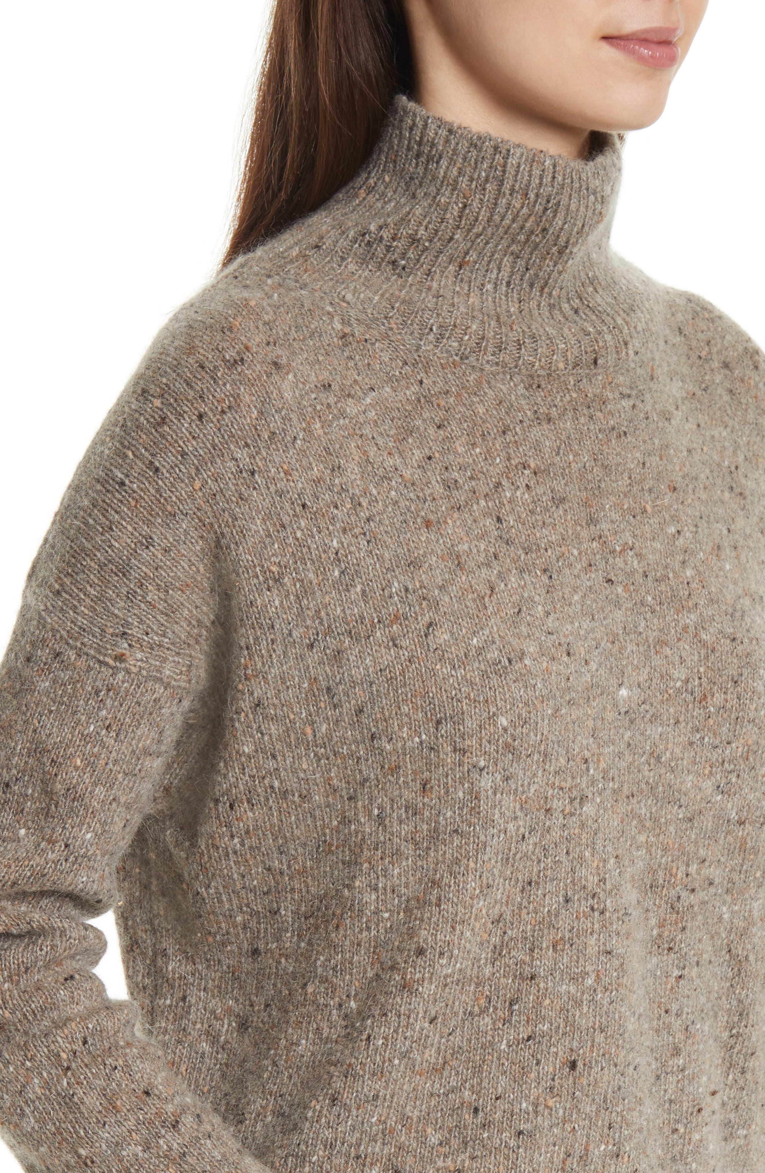 Cashmere Turtleneck Sweater,                             Alternate thumbnail 8, color,