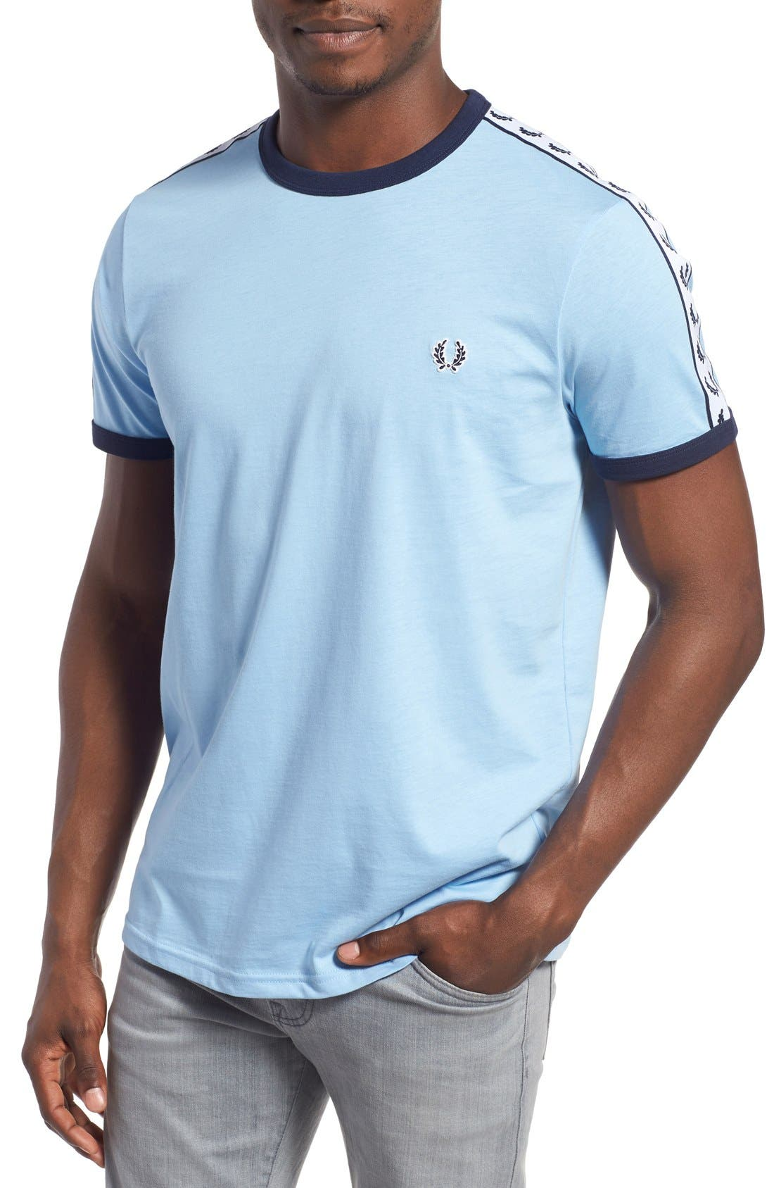 Extra Trim Fit Cotton Ringer T-Shirt,                             Main thumbnail 7, color,