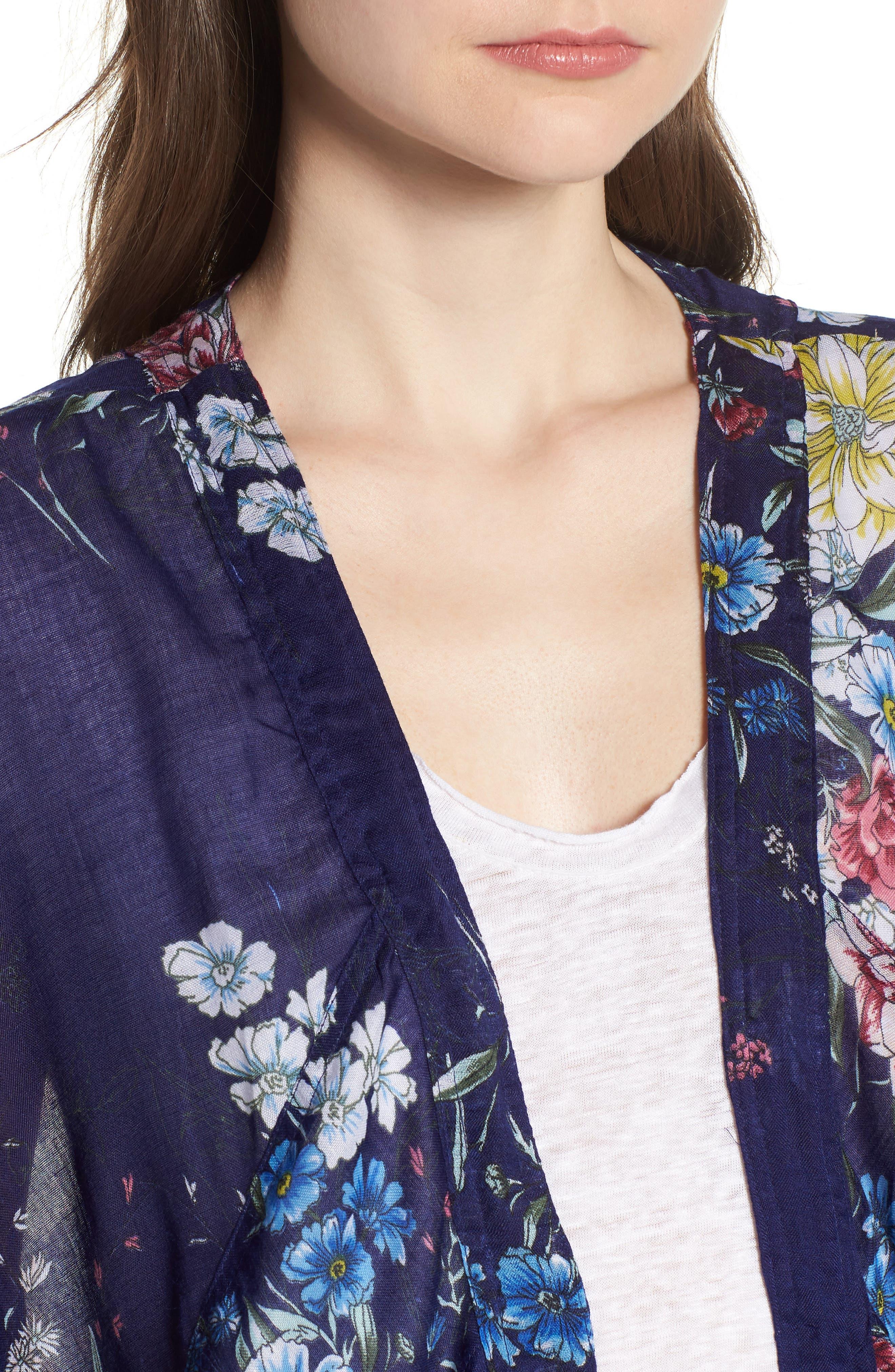 STEVE MADDEN,                             Floral Kimono Duster,                             Alternate thumbnail 4, color,                             410