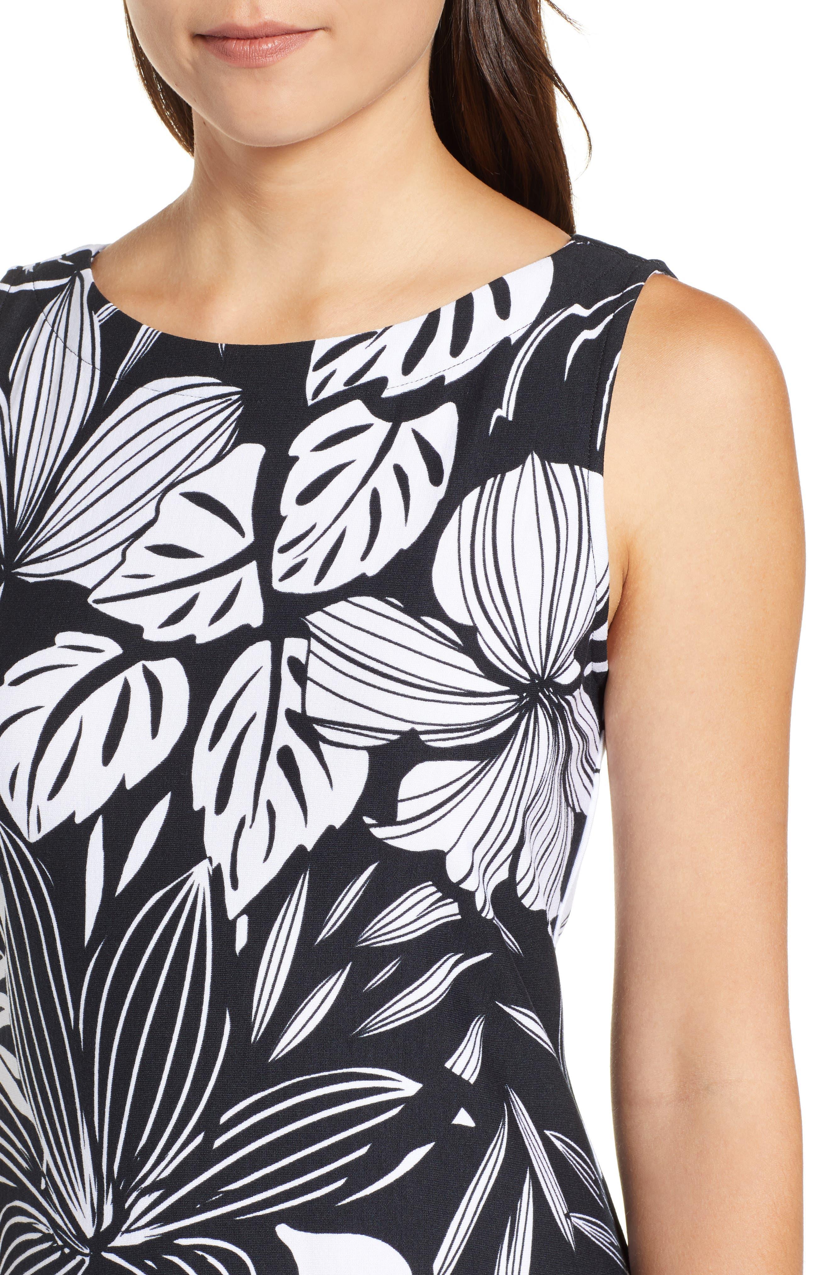 TOMMY BAHAMA,                             Mahana Beach Sheath Dress,                             Alternate thumbnail 4, color,                             BLACK