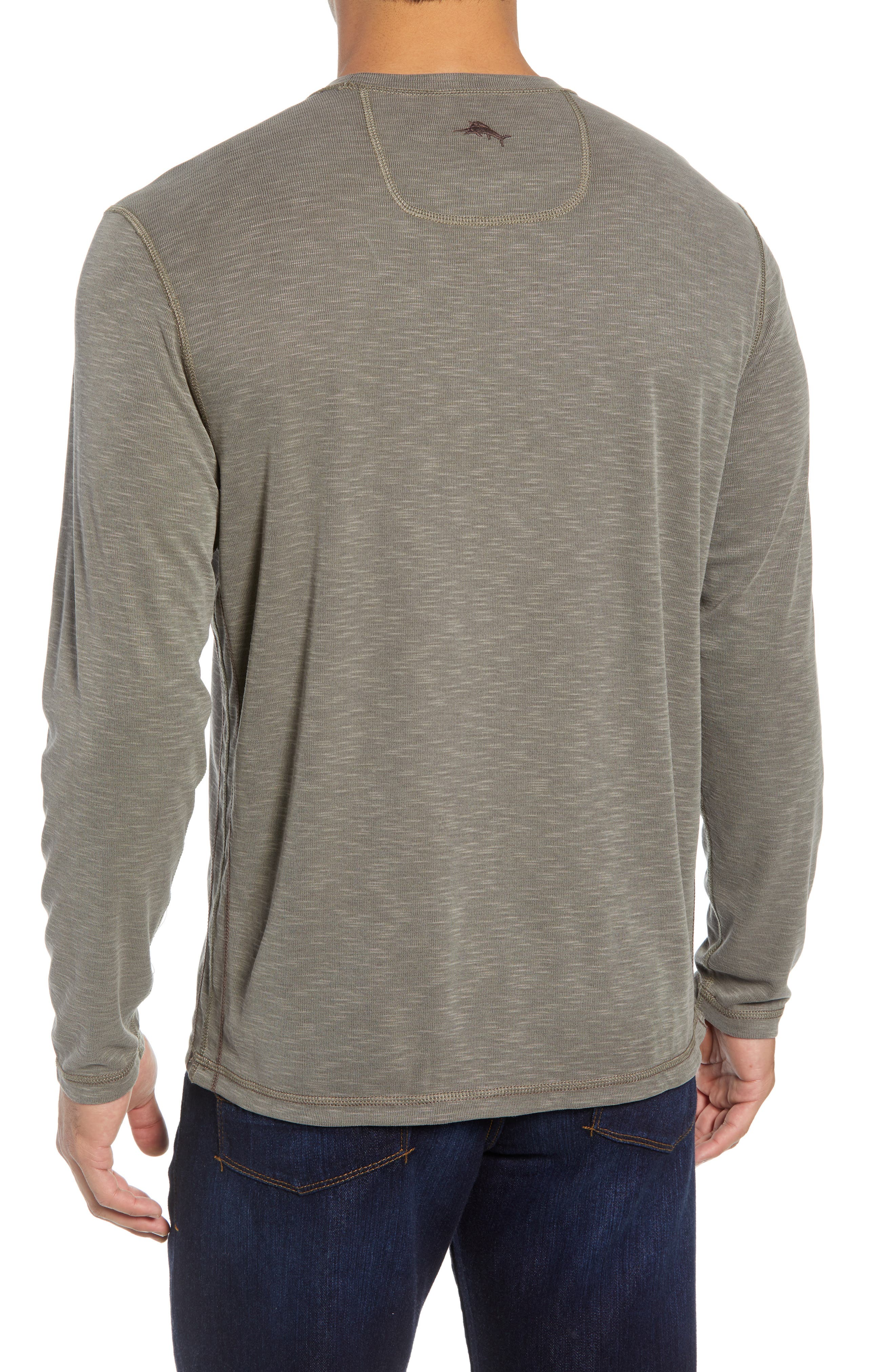 Flip Tide Standard Fit T-Shirt,                             Alternate thumbnail 3, color,                             BITTERSWEET CHOCOLATE