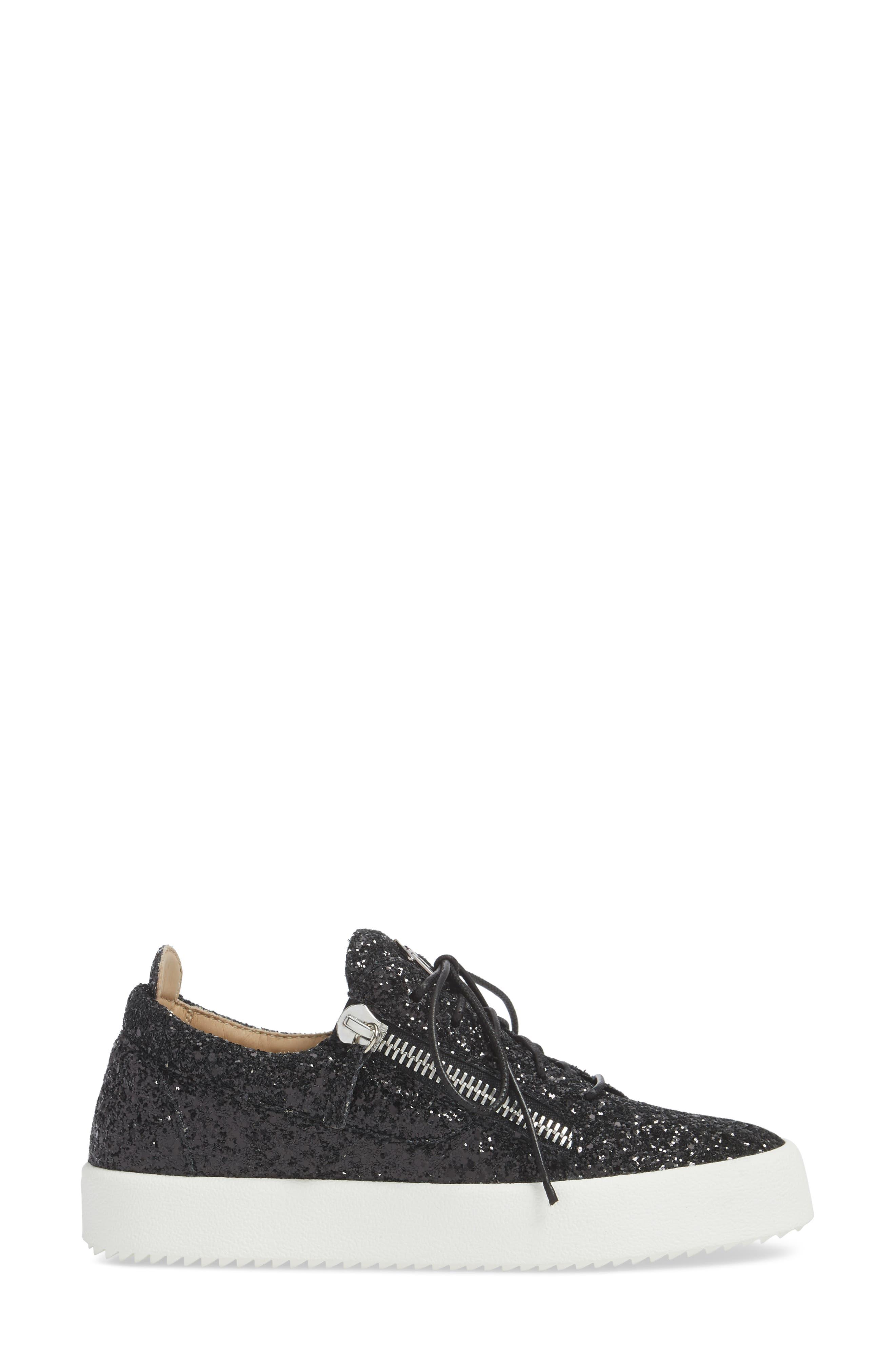 May London Low Top Sneaker,                             Alternate thumbnail 3, color,                             BLACK