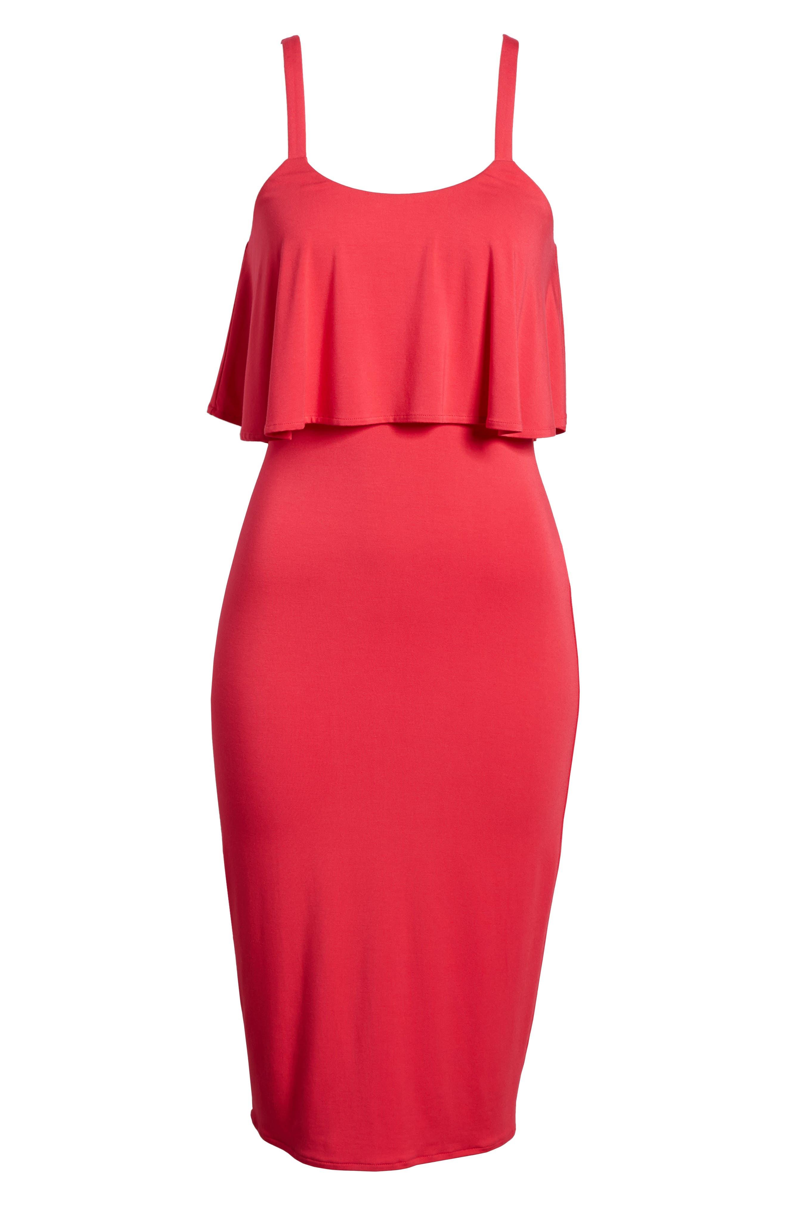 Flounce Front Dress,                             Alternate thumbnail 13, color,