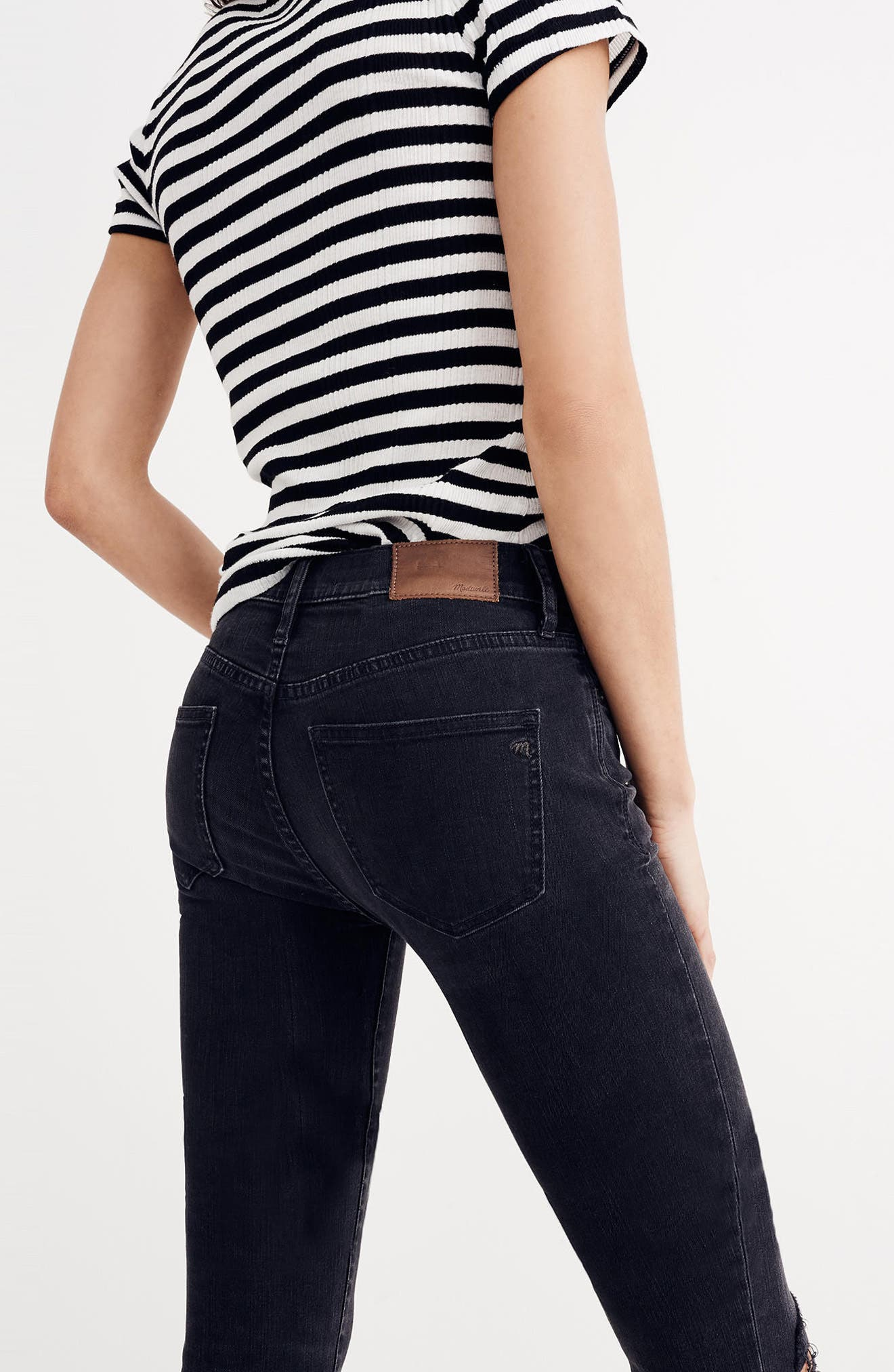 9-Inch High Waist Skinny Jeans,                             Alternate thumbnail 3, color,                             009