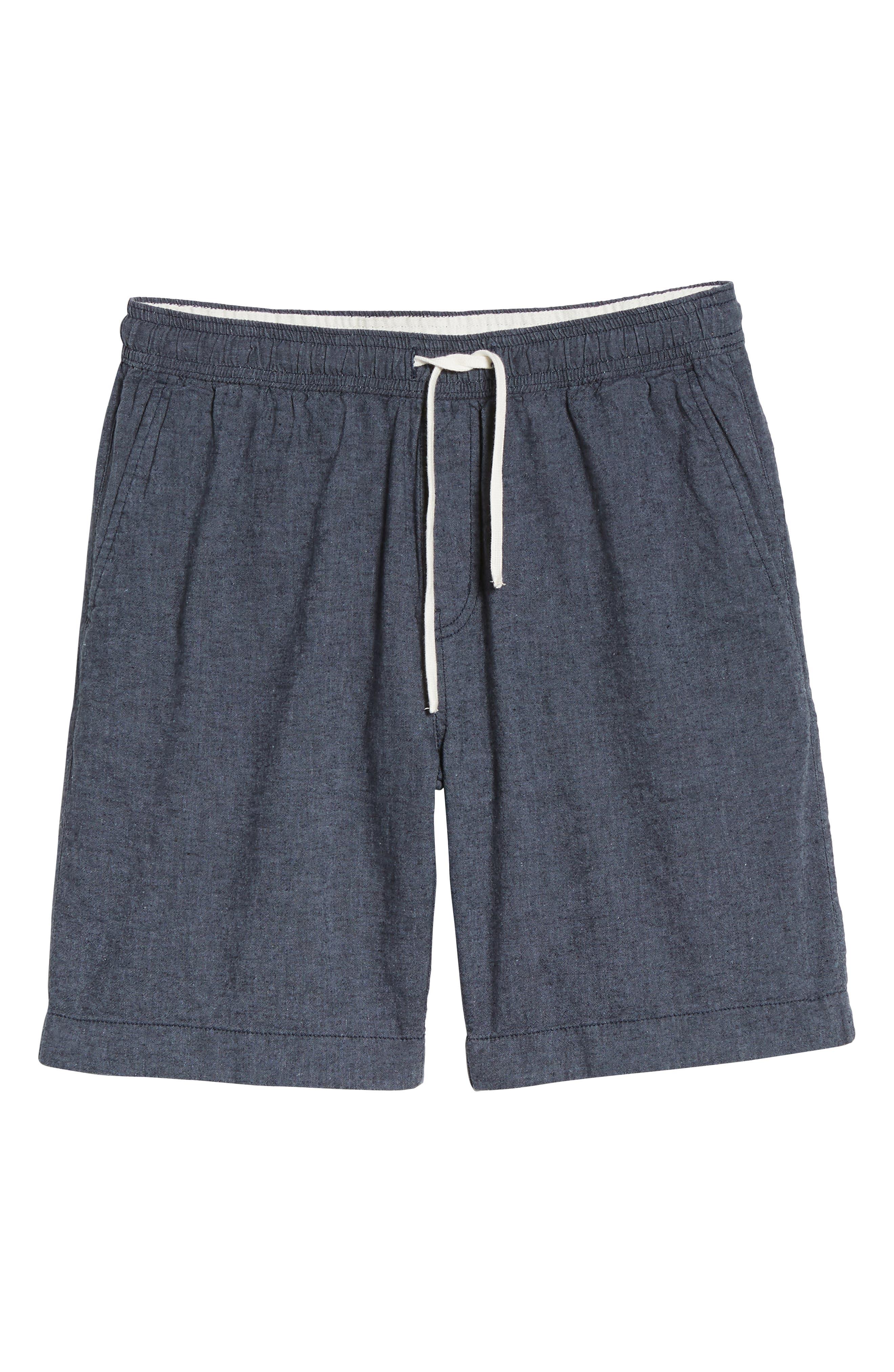 Drawstring Linen Blend Shorts,                             Alternate thumbnail 22, color,