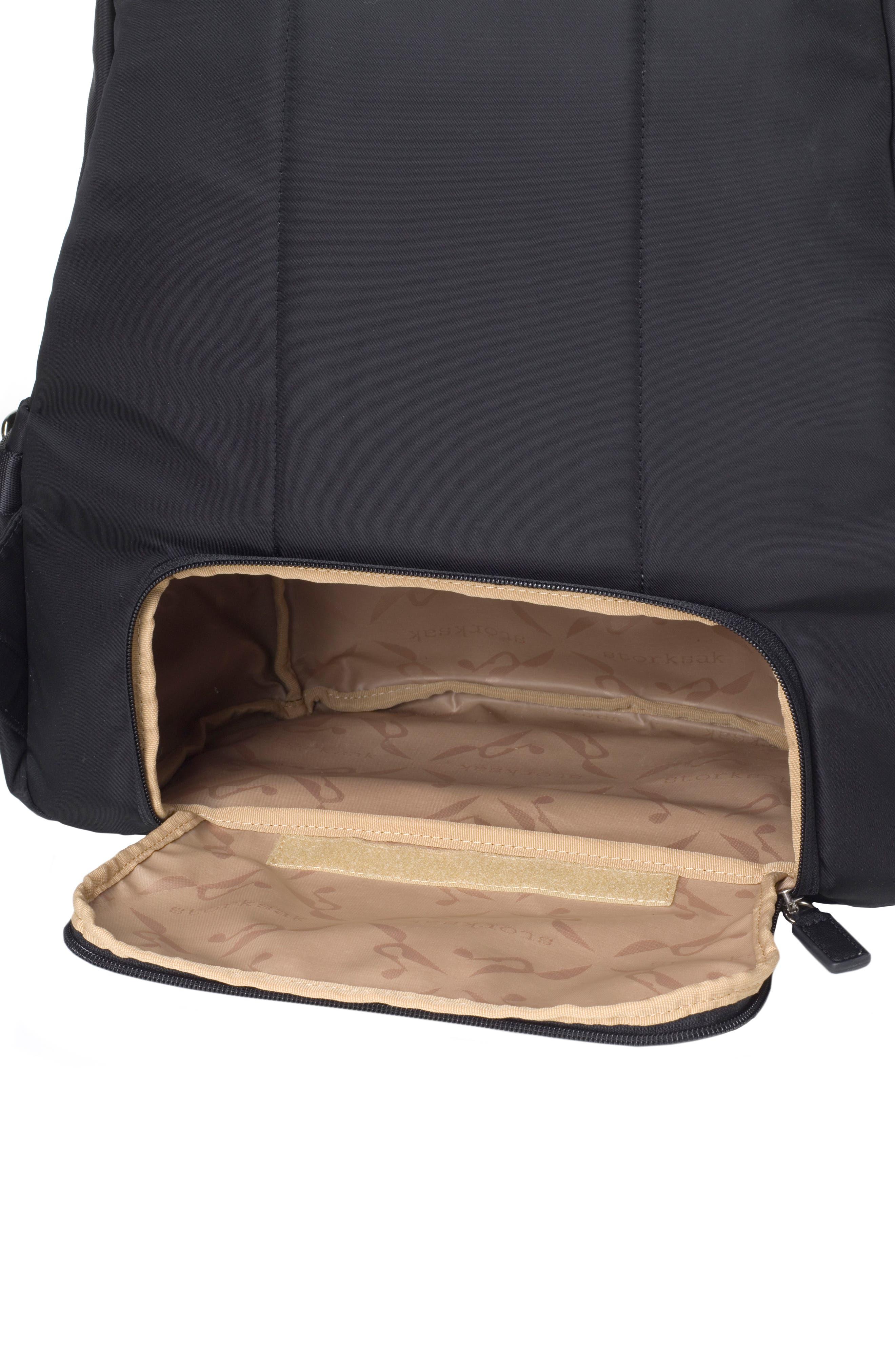 Hero Water Resistant Nylon Backpack Diaper Bag,                             Alternate thumbnail 7, color,                             BLACK