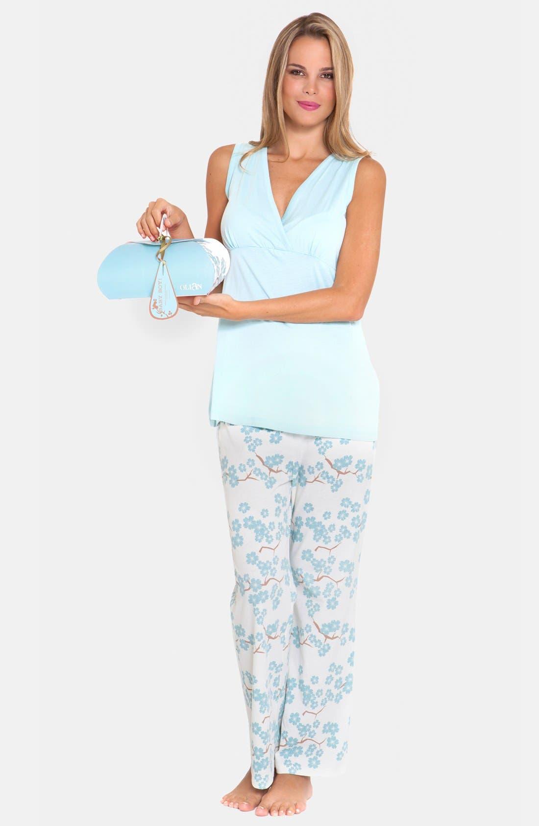 4-Piece Maternity Sleepwear Gift Set,                             Alternate thumbnail 6, color,
