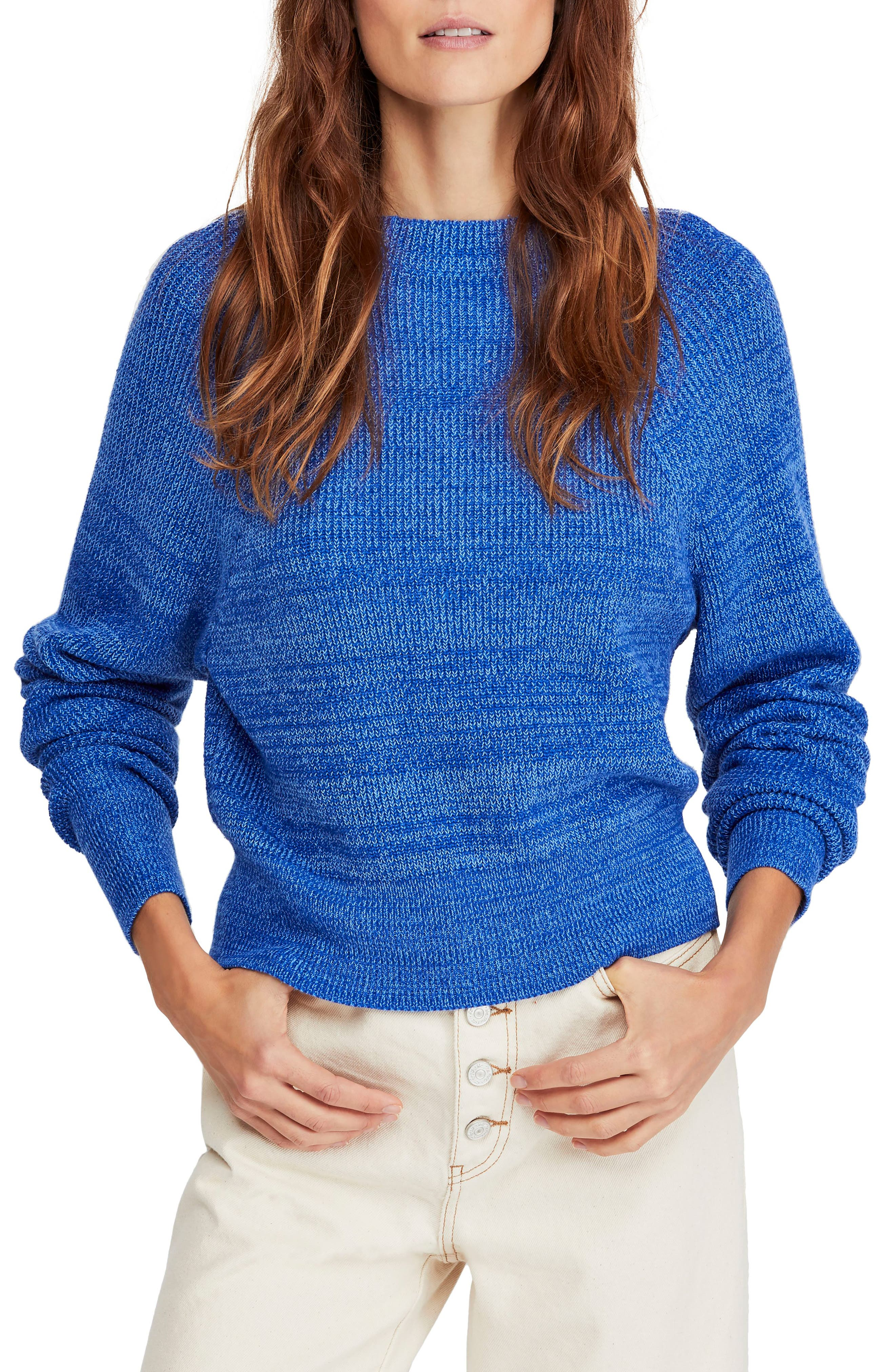 FREE PEOPLE,                             Too Good Sweater,                             Main thumbnail 1, color,                             BLUE