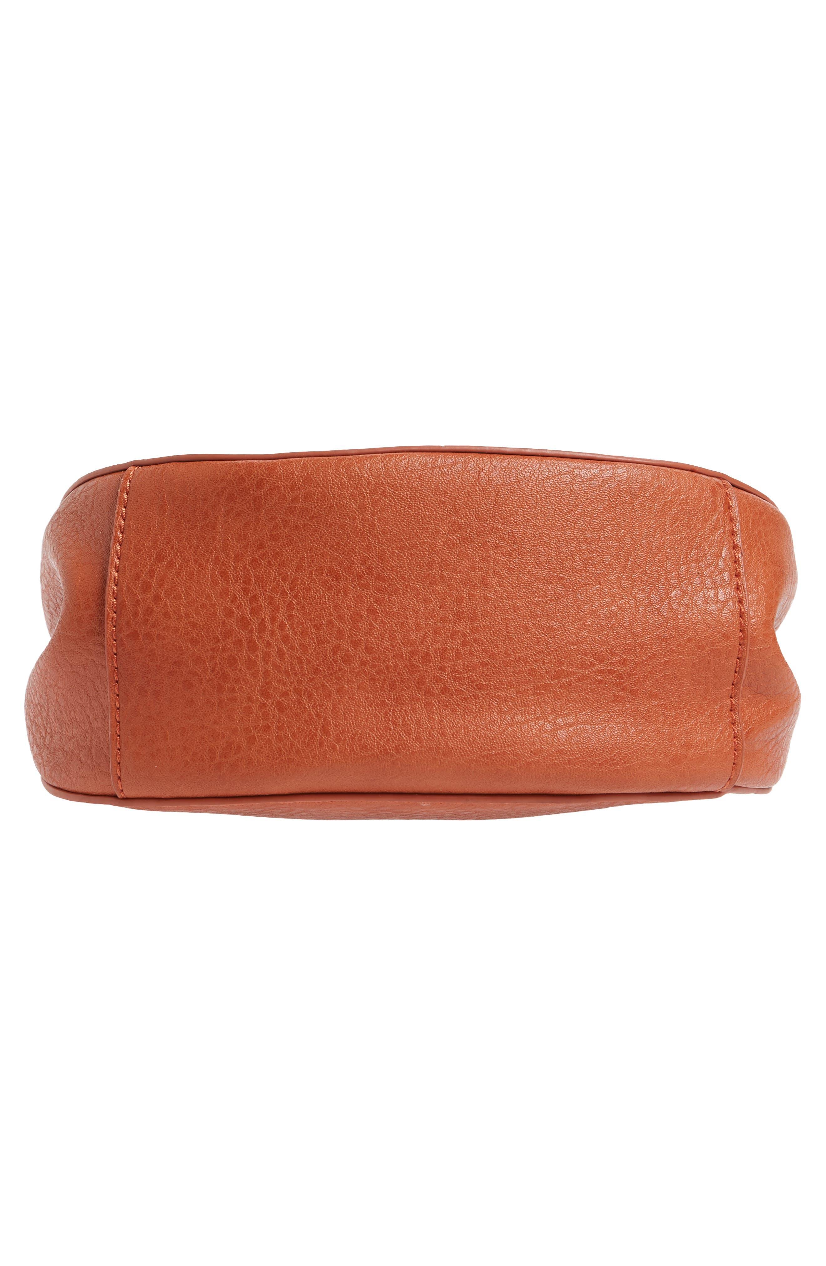 Tassel Faux Leather Crossbody Saddle Bag,                             Alternate thumbnail 12, color,