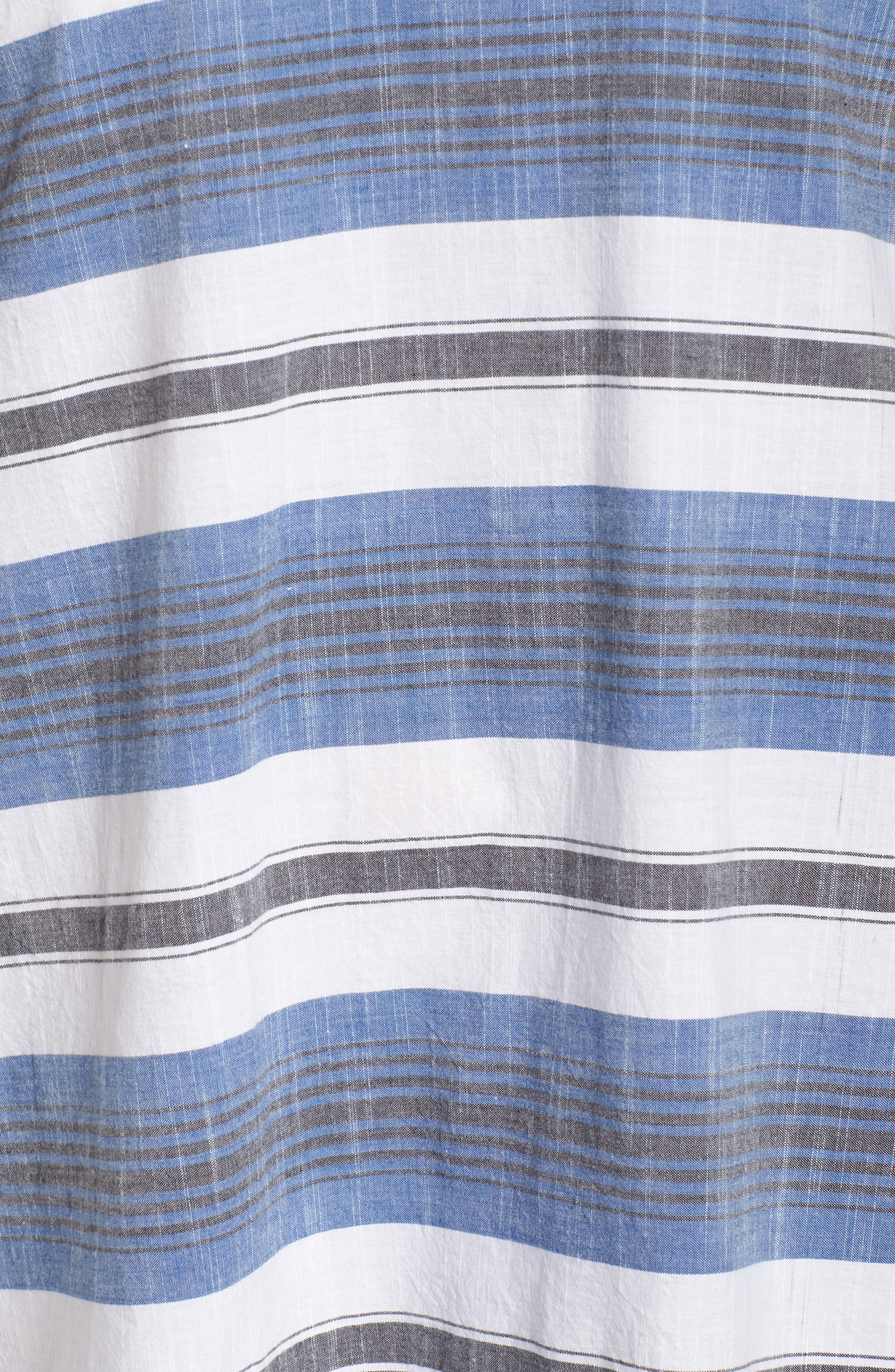 Lace-Up Stripe Dress,                             Alternate thumbnail 5, color,                             460