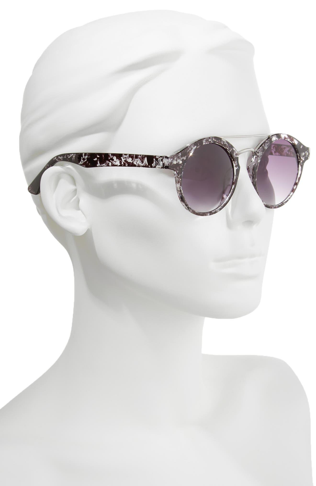 45mm Round Sunglasses,                             Alternate thumbnail 2, color,                             001