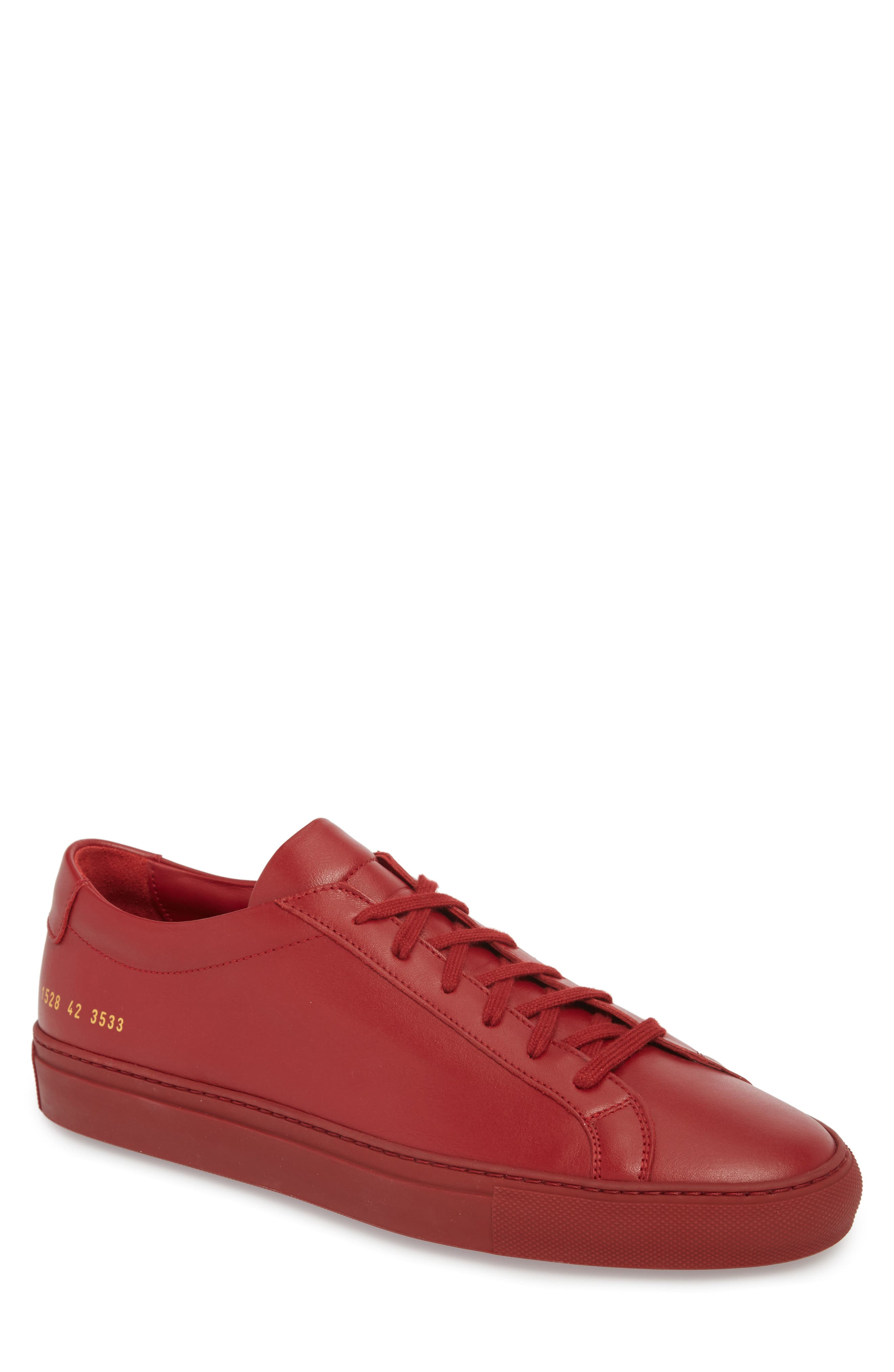 Original Achilles Sneaker,                         Main,                         color, RED LEATHER