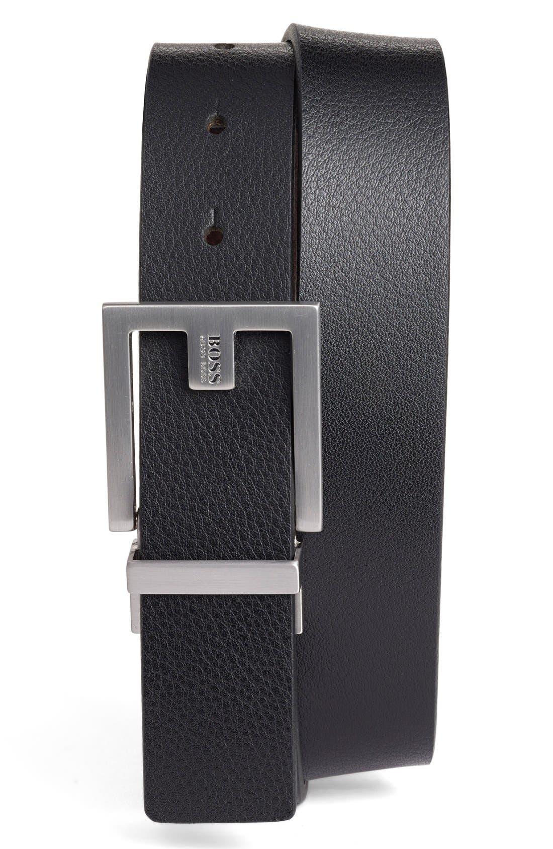 Fleming Reversible Leather Belt,                             Main thumbnail 2, color,