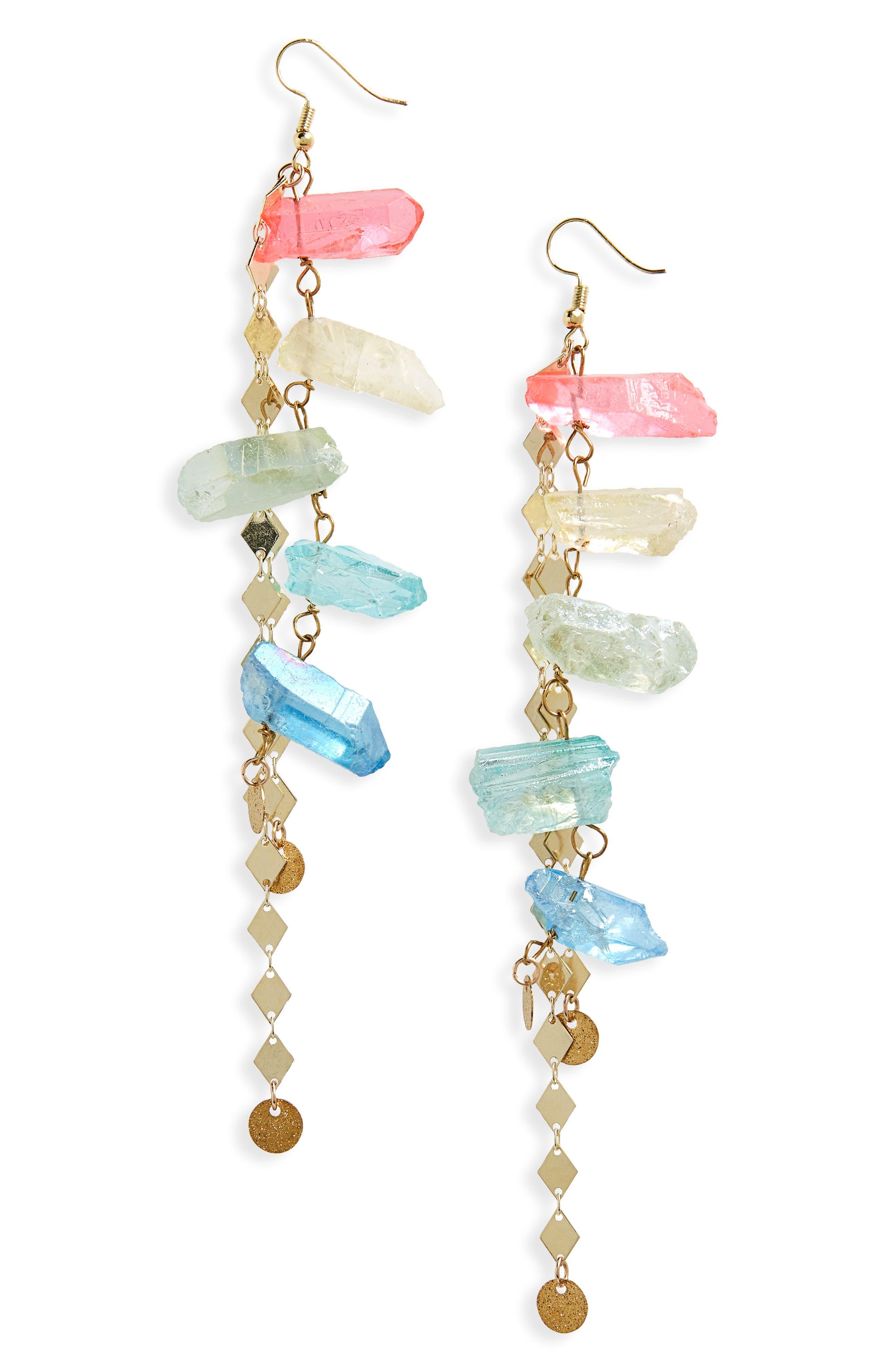 Aura Quartz Drop Earrings,                         Main,                         color, 710