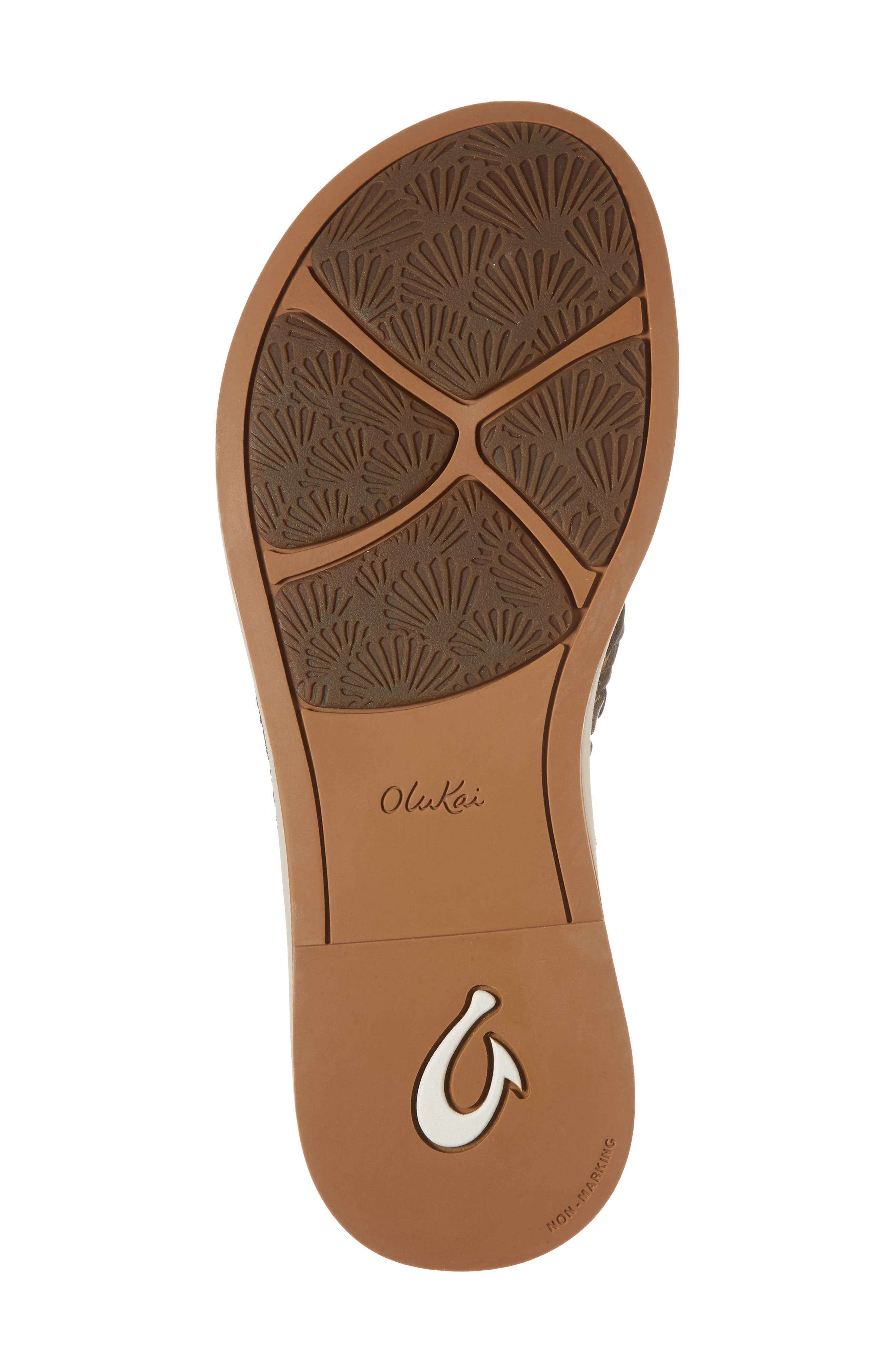 Kahiko Flip-Flop,                             Alternate thumbnail 6, color,                             SLATE/ TAN LEATHER