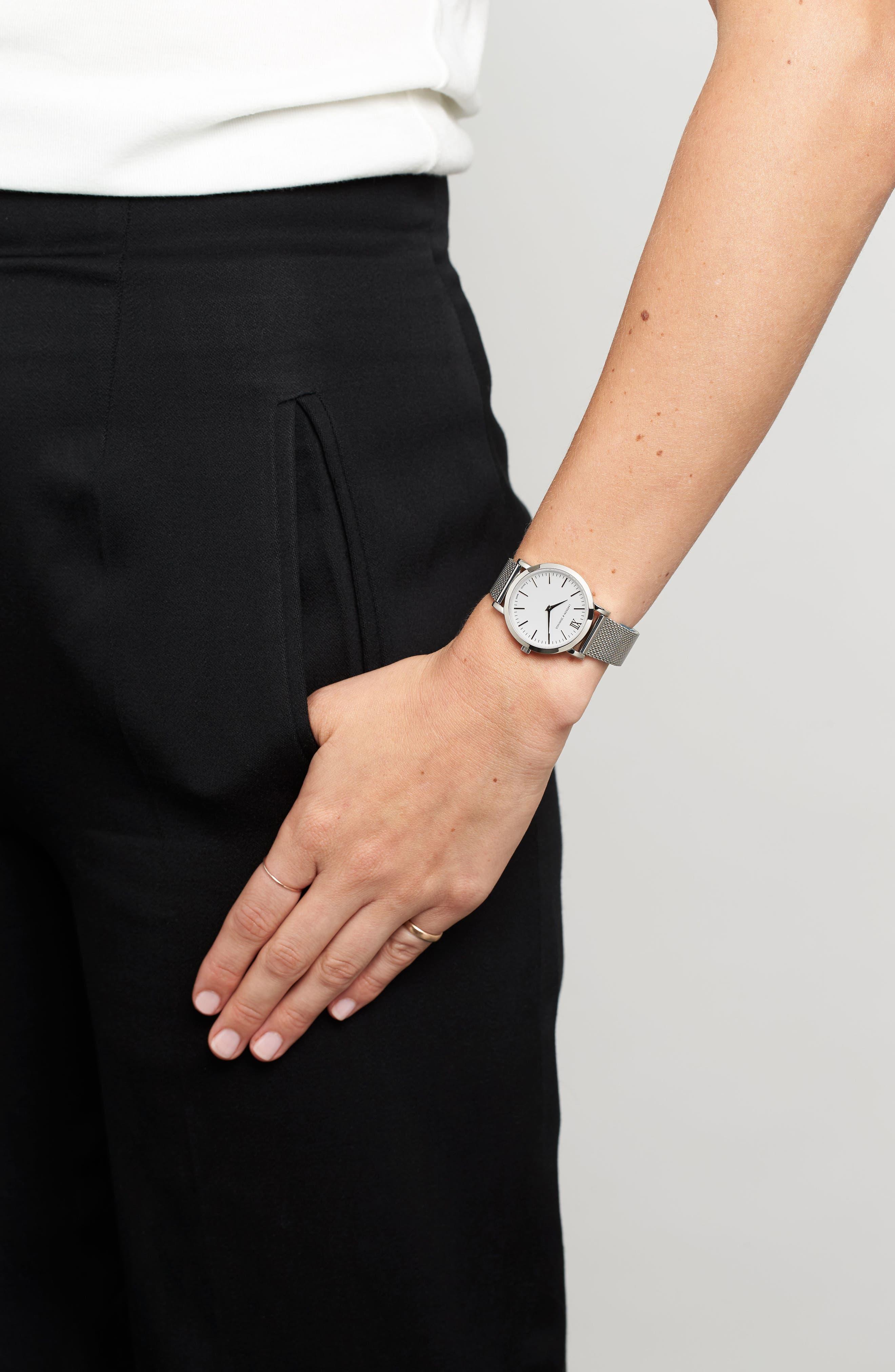 'Lugano' Mesh Strap Watch, 33mm,                             Alternate thumbnail 2, color,                             040