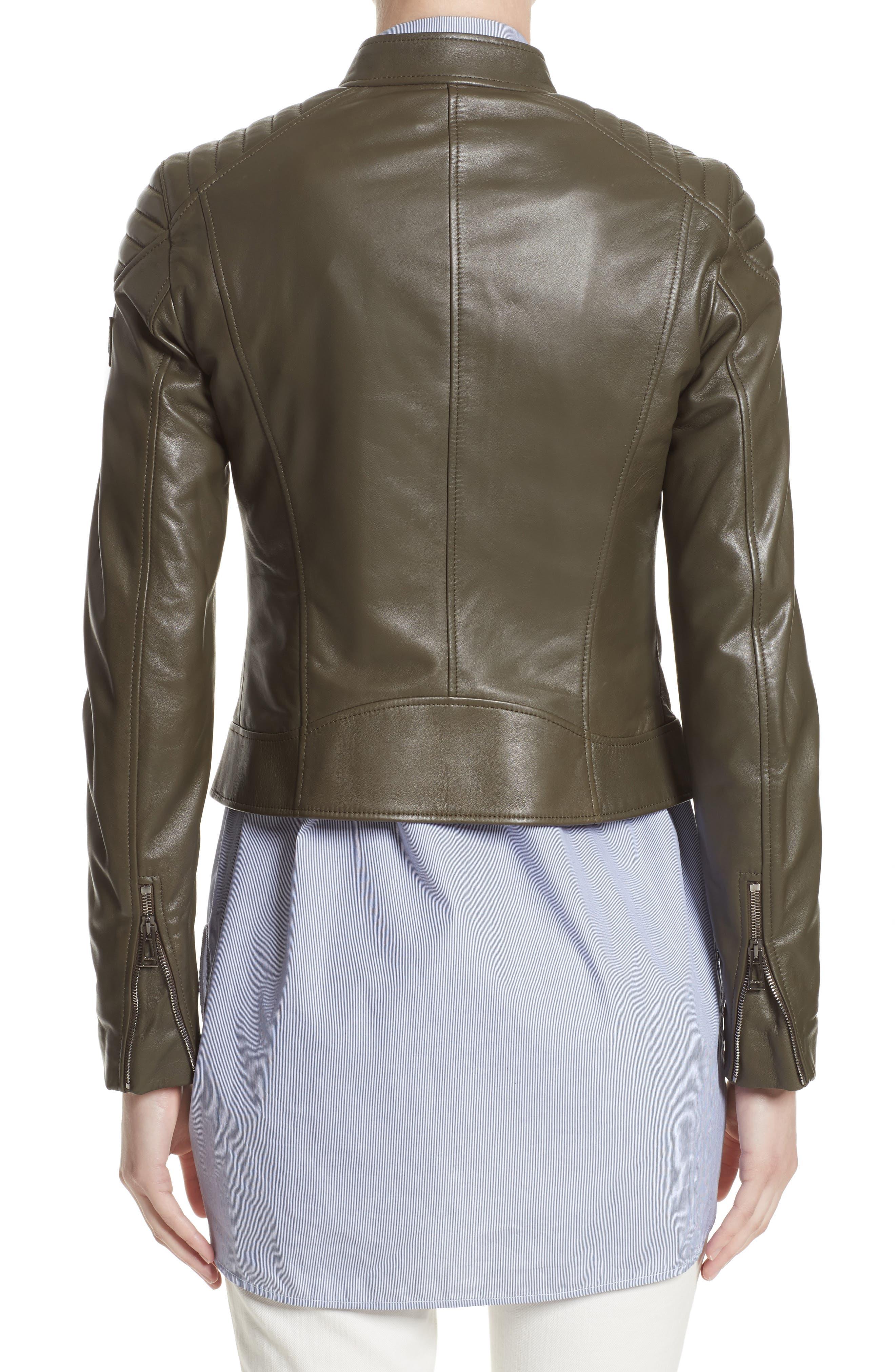 Mollison Leather Moto Jacket,                             Alternate thumbnail 5, color,