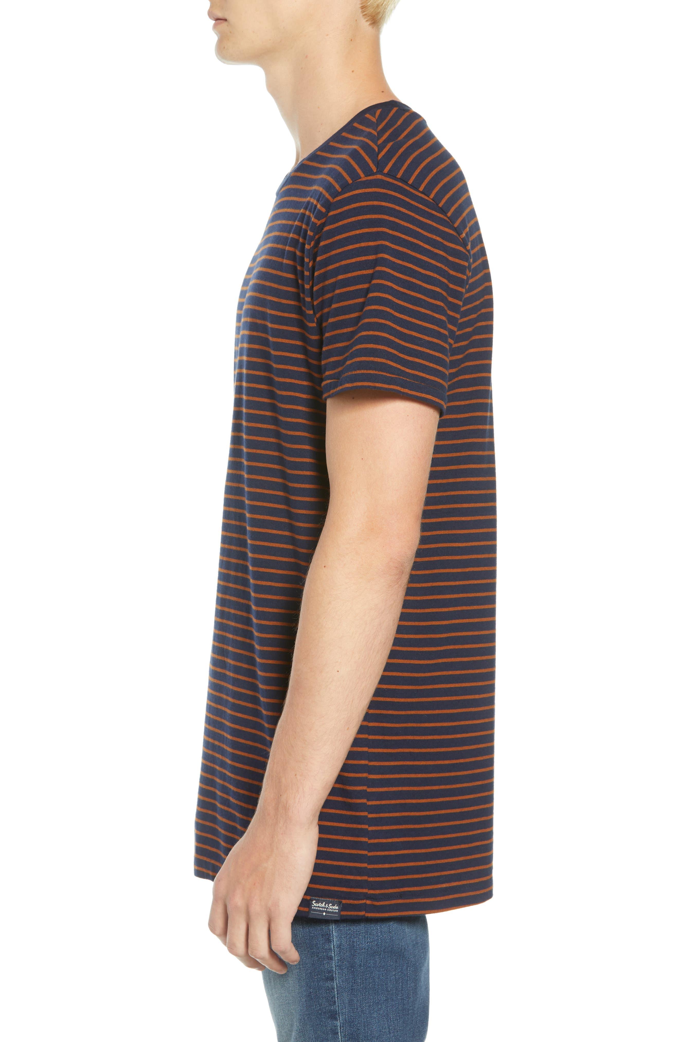 Stripe T-Shirt,                             Alternate thumbnail 3, color,                             210