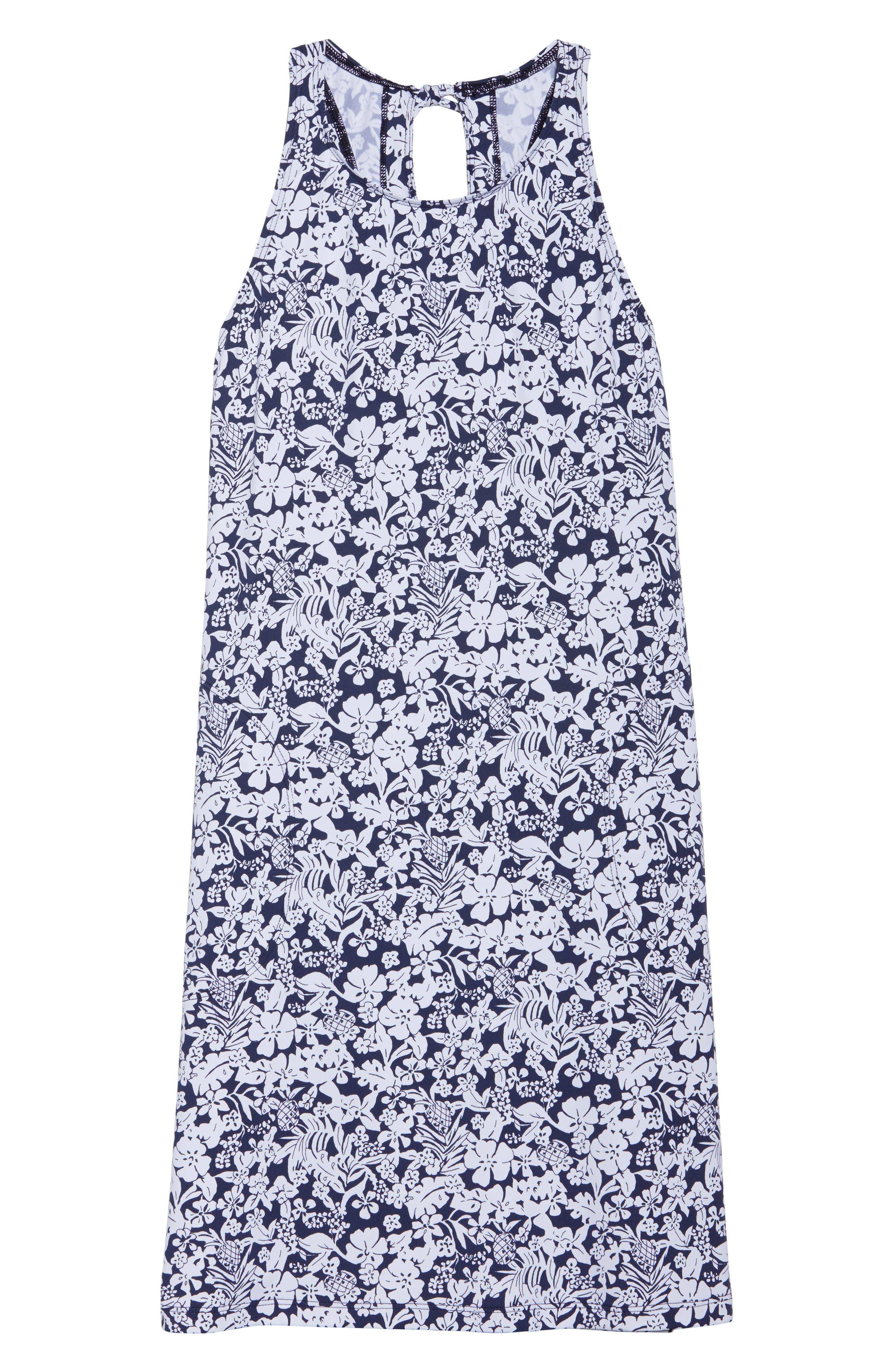 Riviera Tiles Cover-Up Dress,                             Alternate thumbnail 6, color,                             400