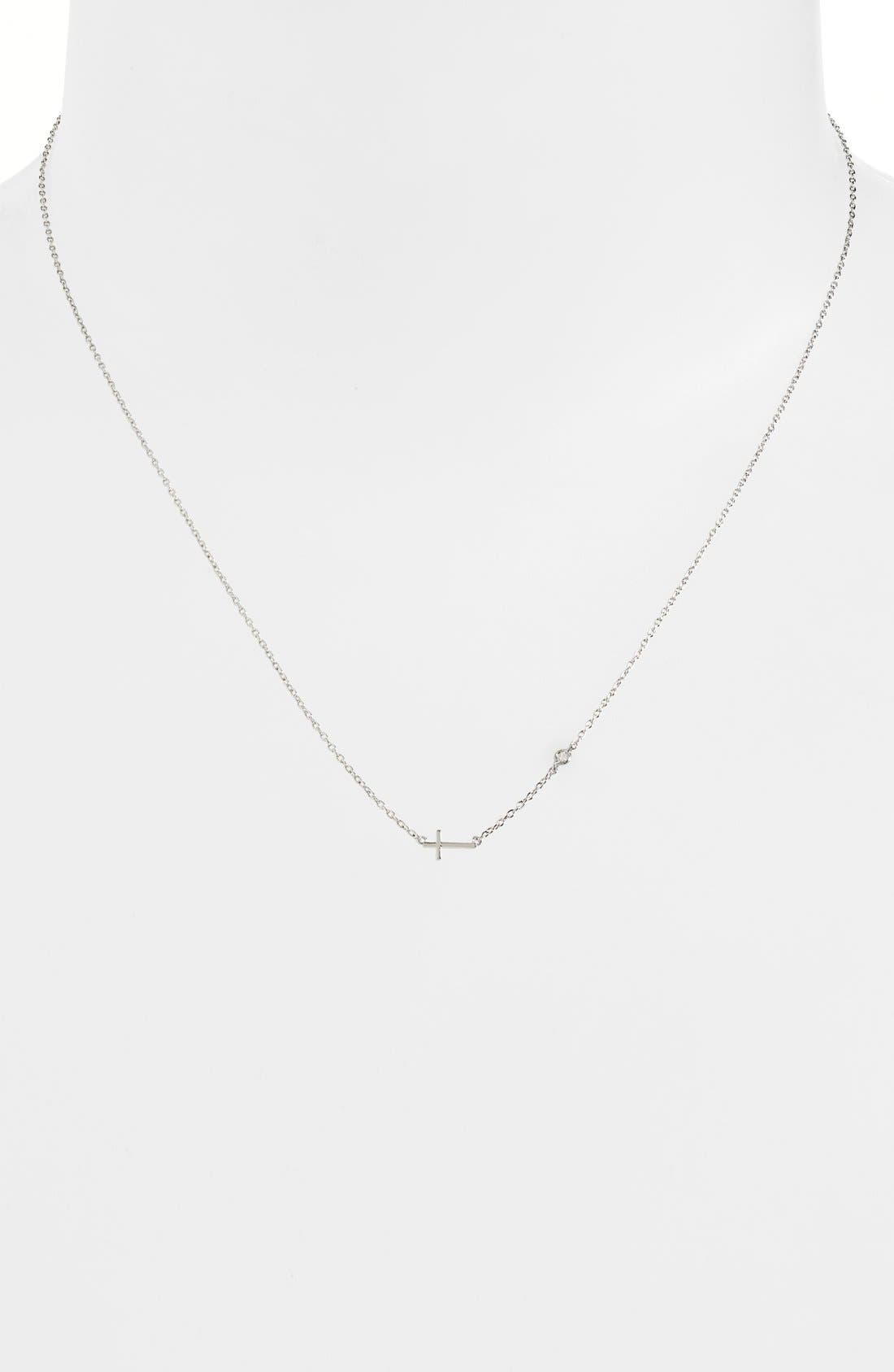 Shy by SE Cross Necklace,                             Alternate thumbnail 4, color,