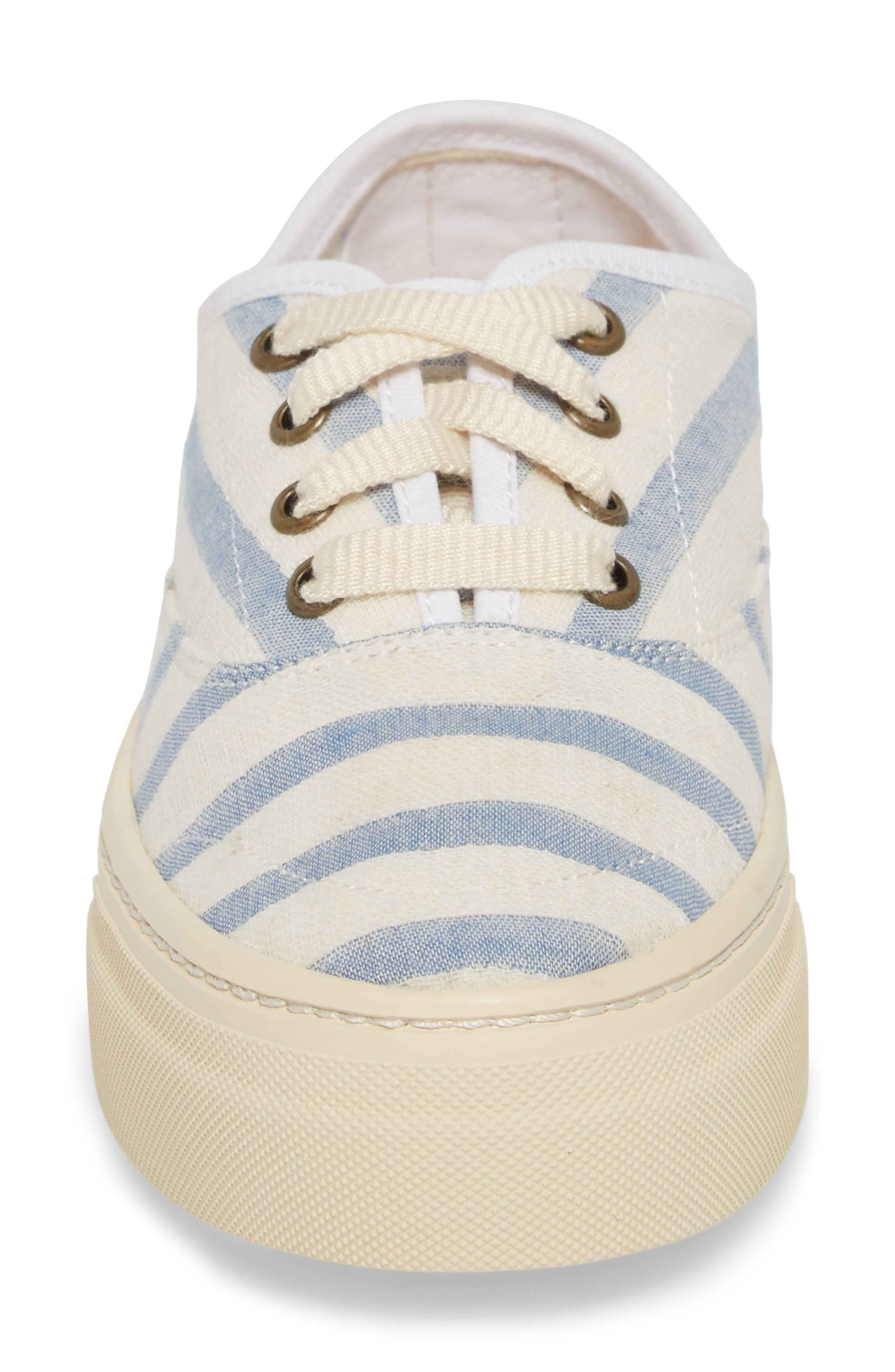 Platform Stripe Sneaker,                             Alternate thumbnail 4, color,