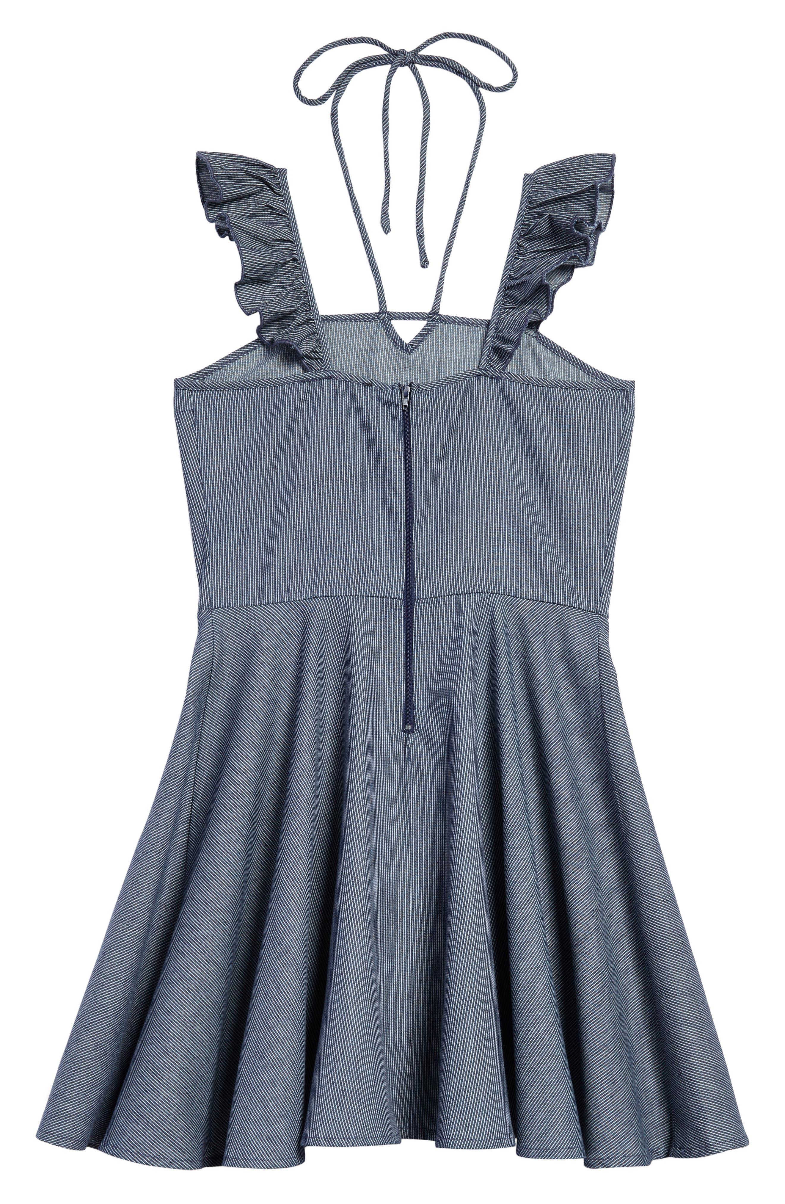 Ruffle Shoulder Dress,                             Alternate thumbnail 2, color,                             410
