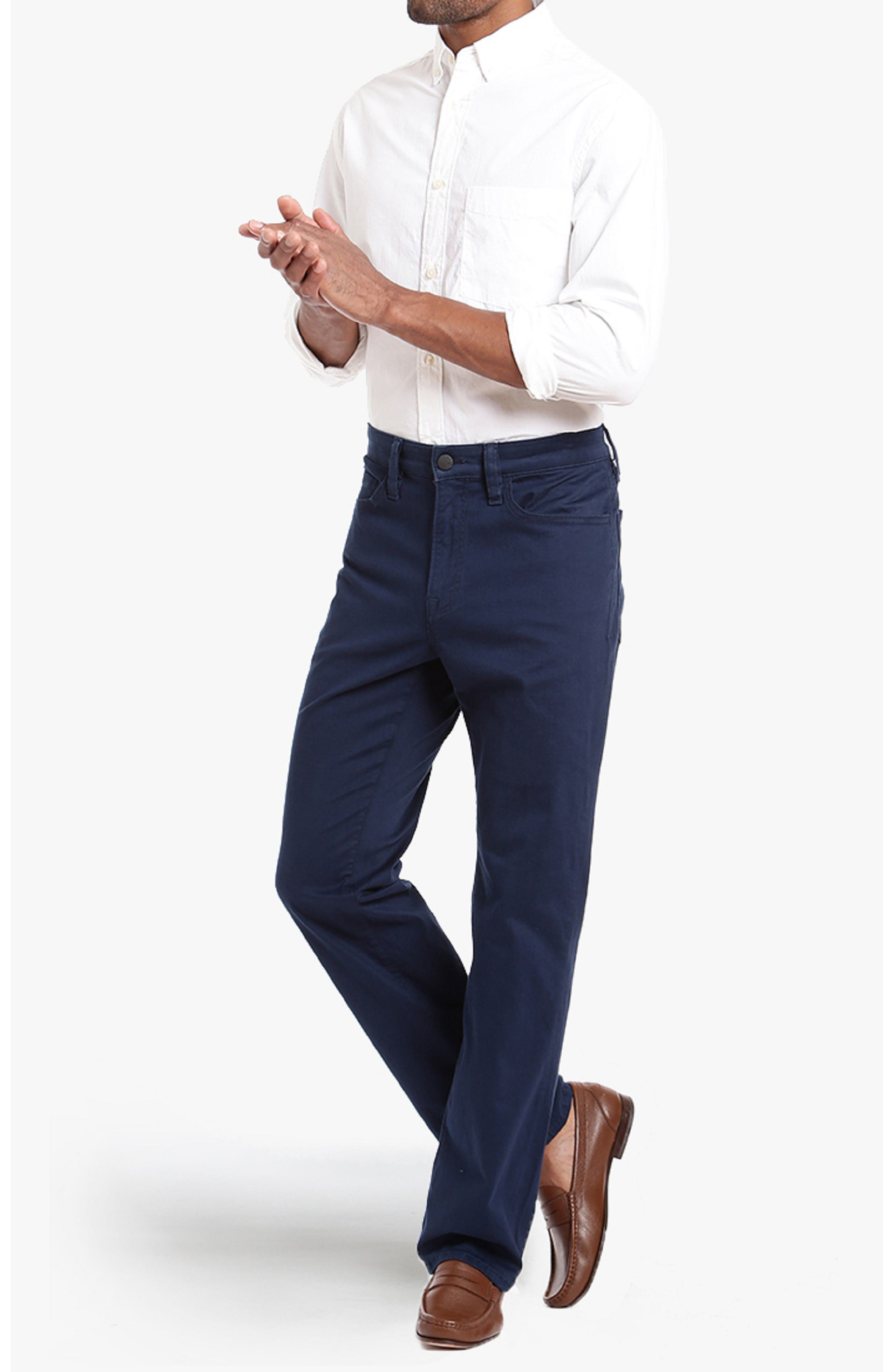 'Charisma' Classic Relaxed Fit,                             Alternate thumbnail 4, color,                             BLUE TWILL