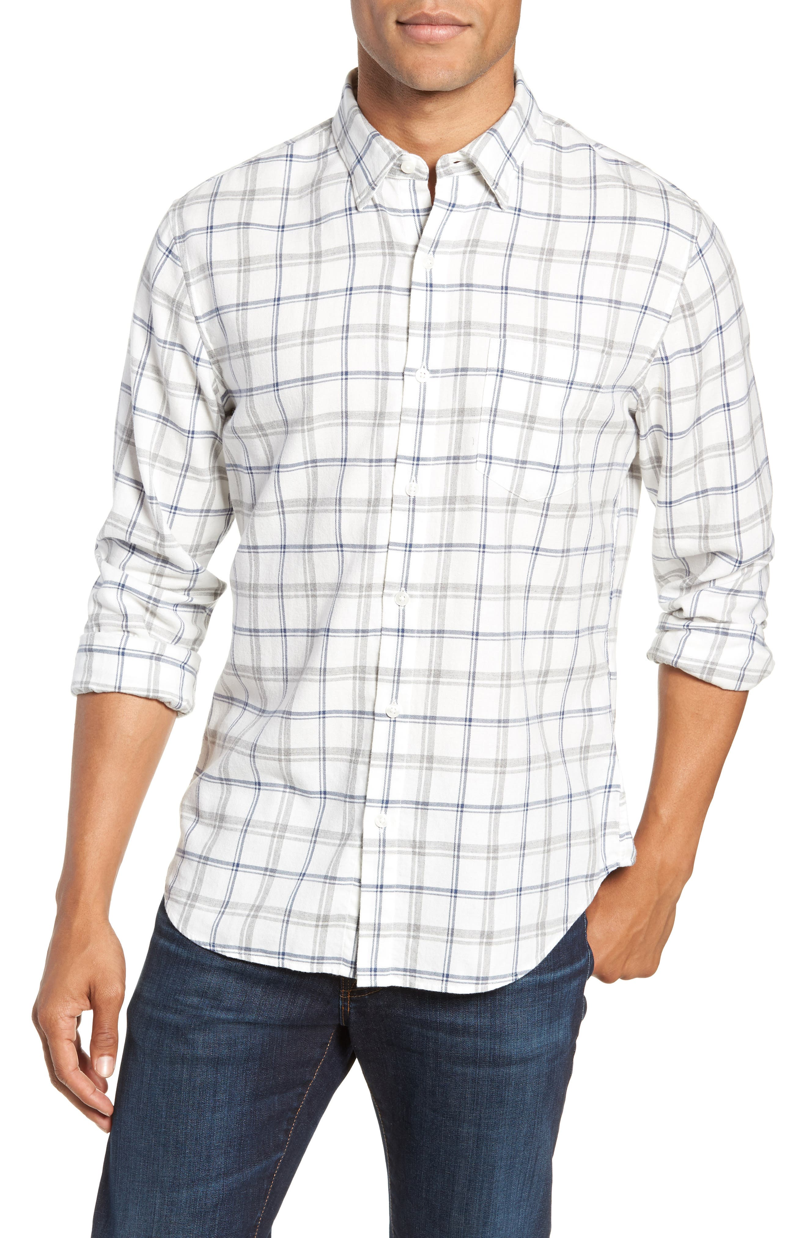 Slim Fit Brushed Twill Sport Shirt,                         Main,                         color, 400