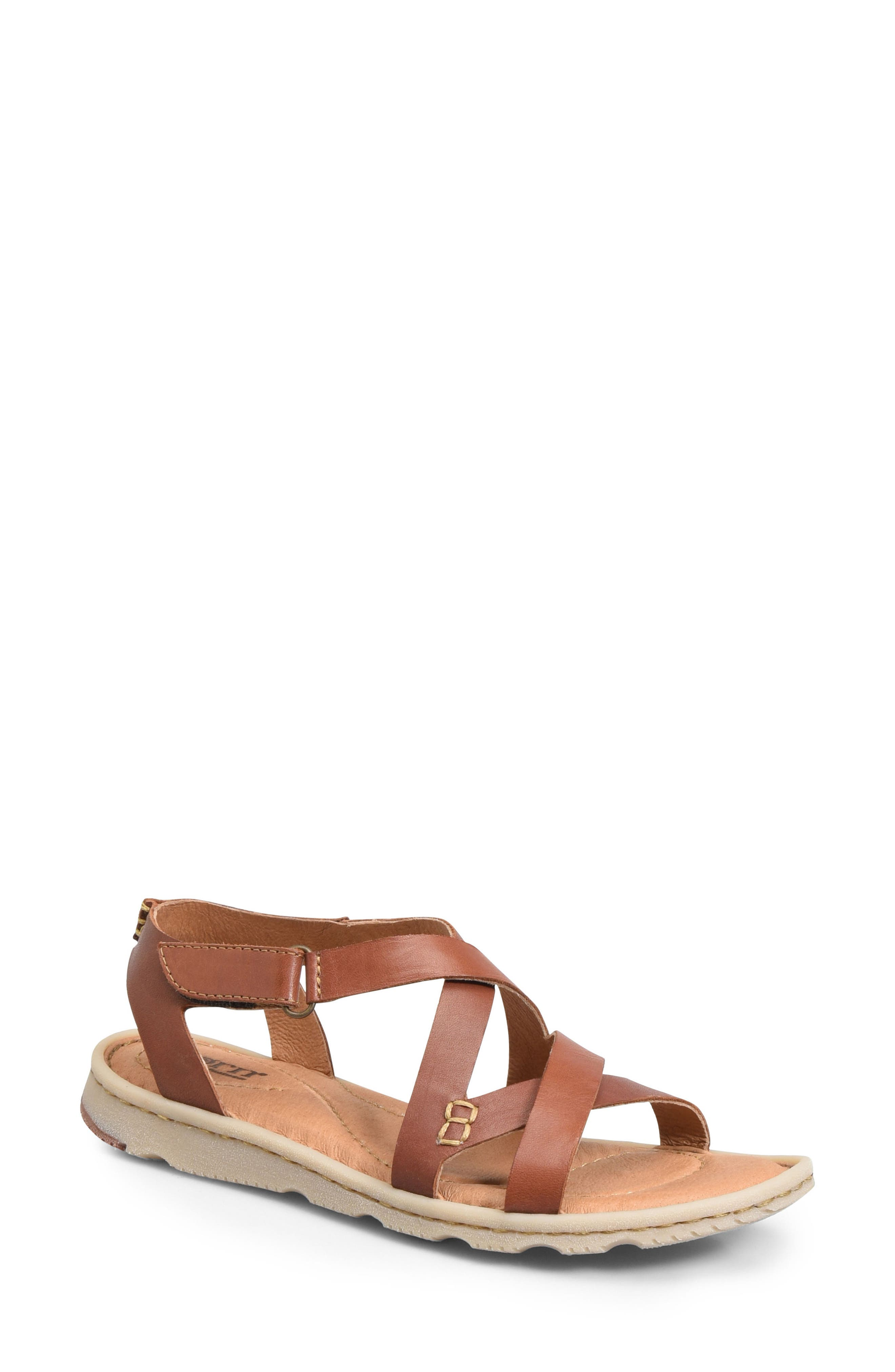 Trinidad Sandal,                         Main,                         color, BROWN LEATHER