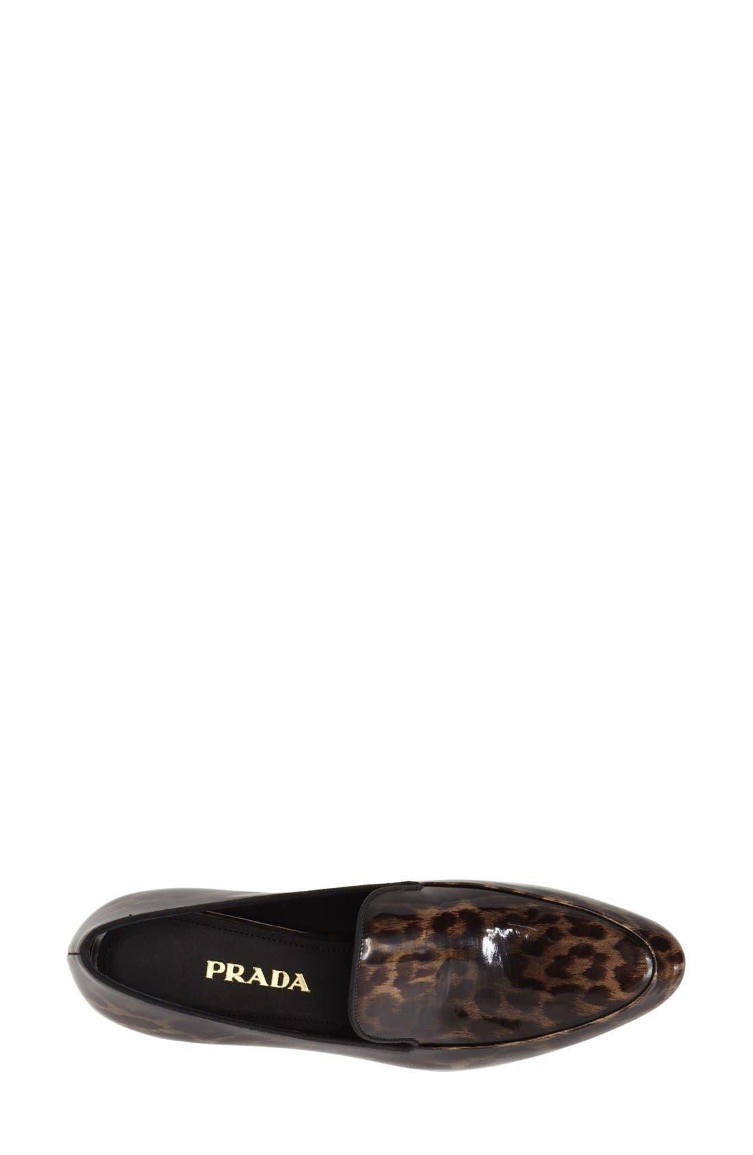 Leopard Print Loafer,                             Alternate thumbnail 4, color,                             200