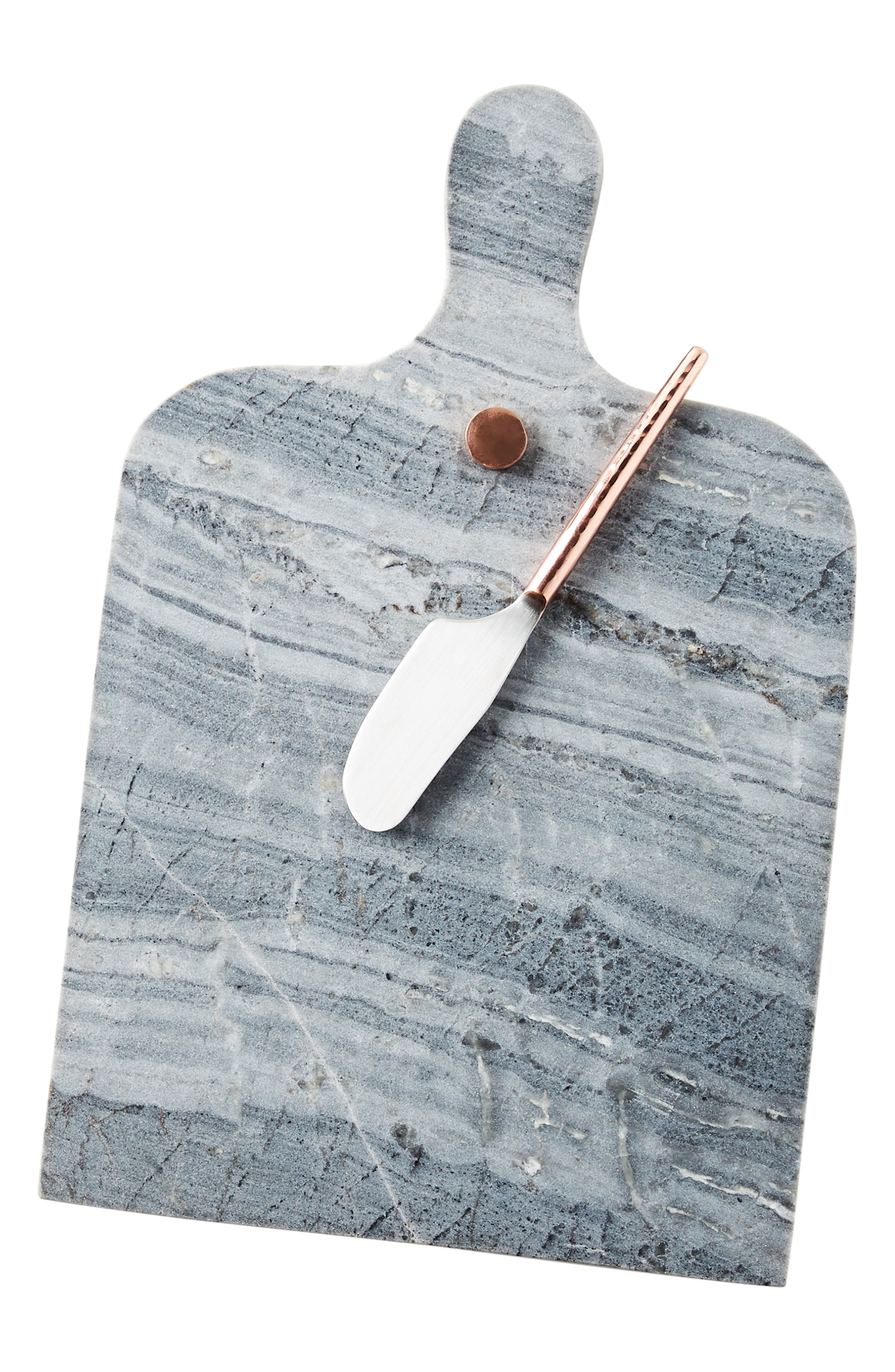Swivel Cheeseboard & Set of 3 Knives,                             Alternate thumbnail 3, color,                             020