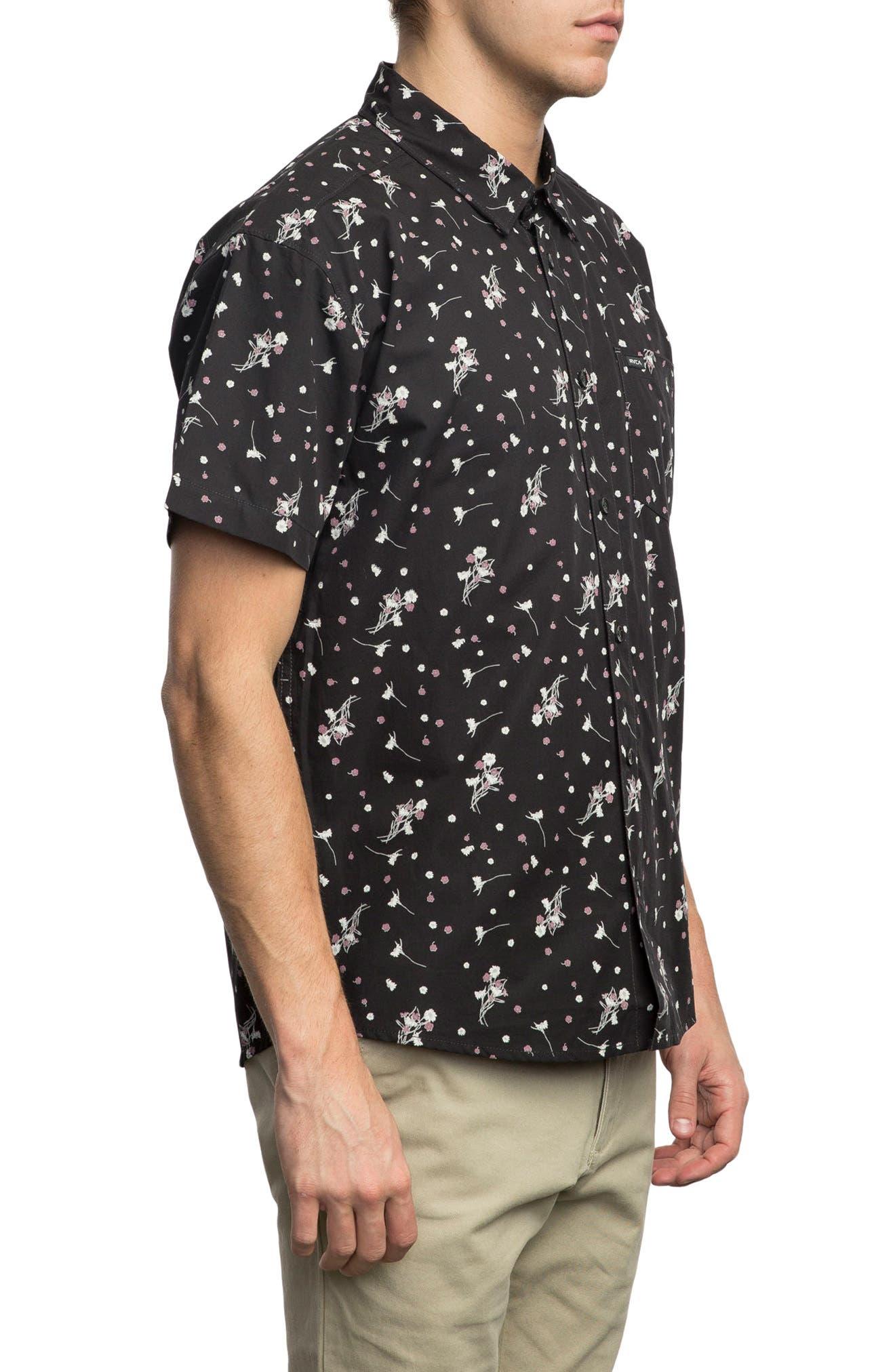 Print Woven Shirt,                             Alternate thumbnail 3, color,                             001