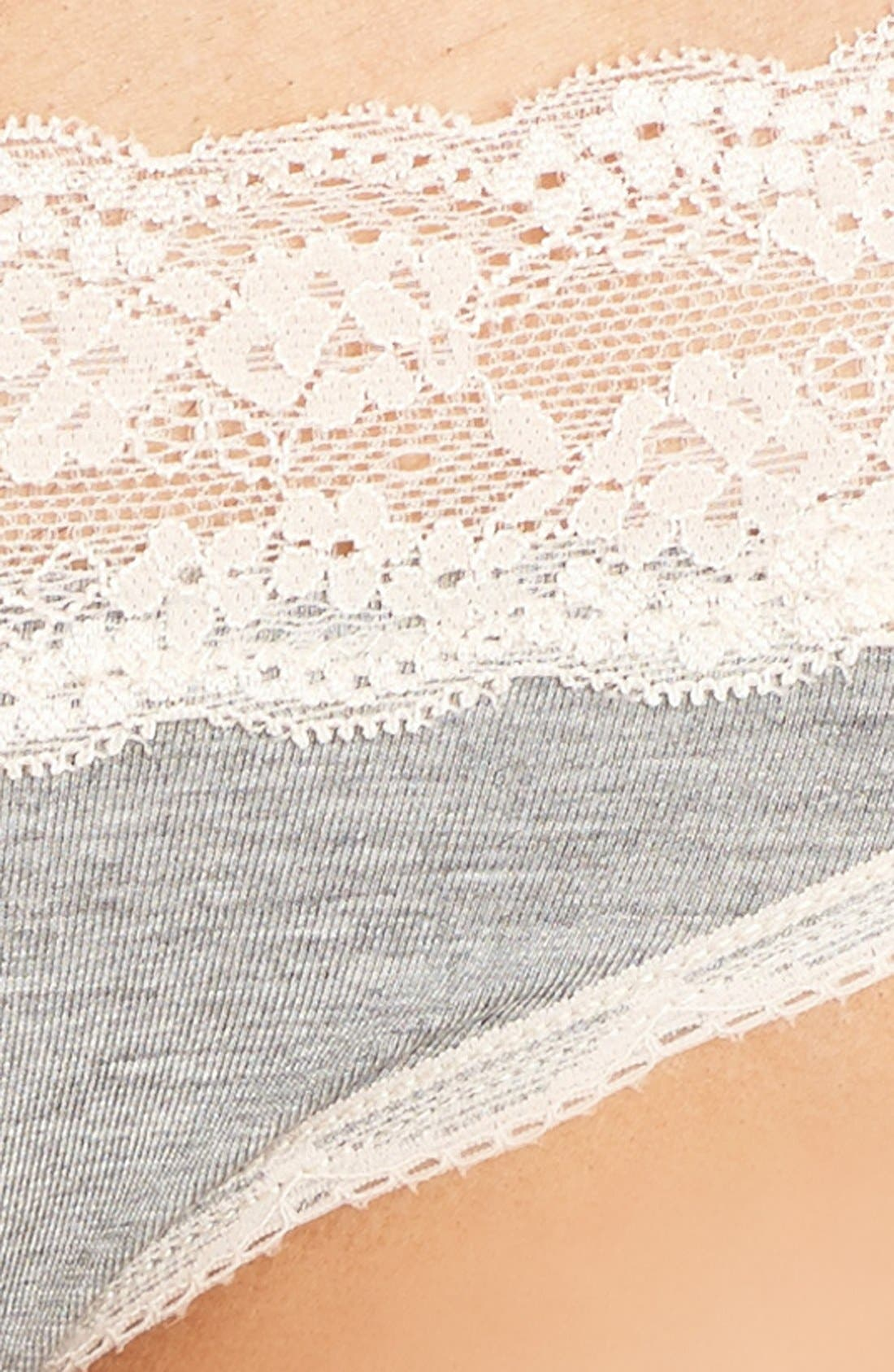 Ahna Hipster Panties,                             Alternate thumbnail 2, color,                             HEATHER GREY/ SEASHELL