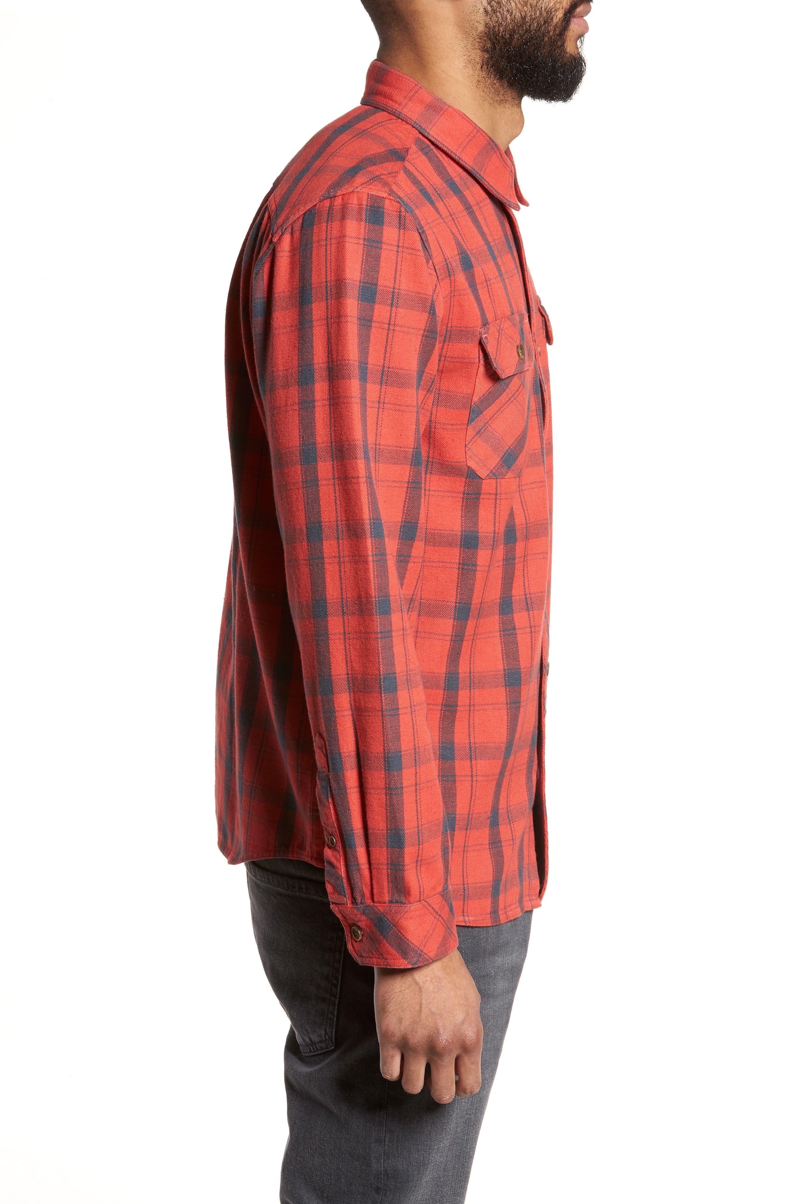 Carpenter Flannel Shirt,                             Alternate thumbnail 8, color,