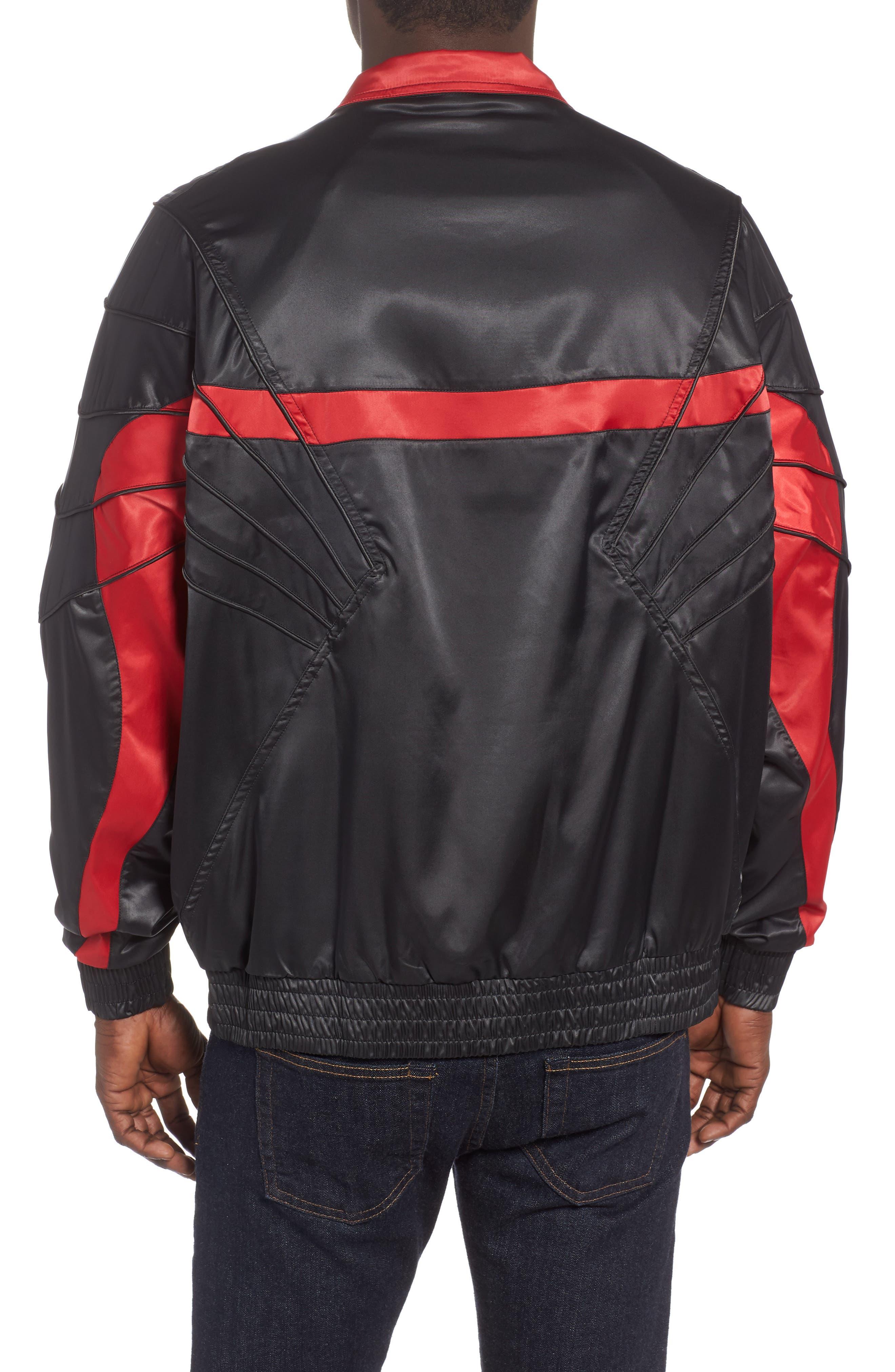 AJ5 Satin Track Jacket,                             Alternate thumbnail 2, color,                             BLACK
